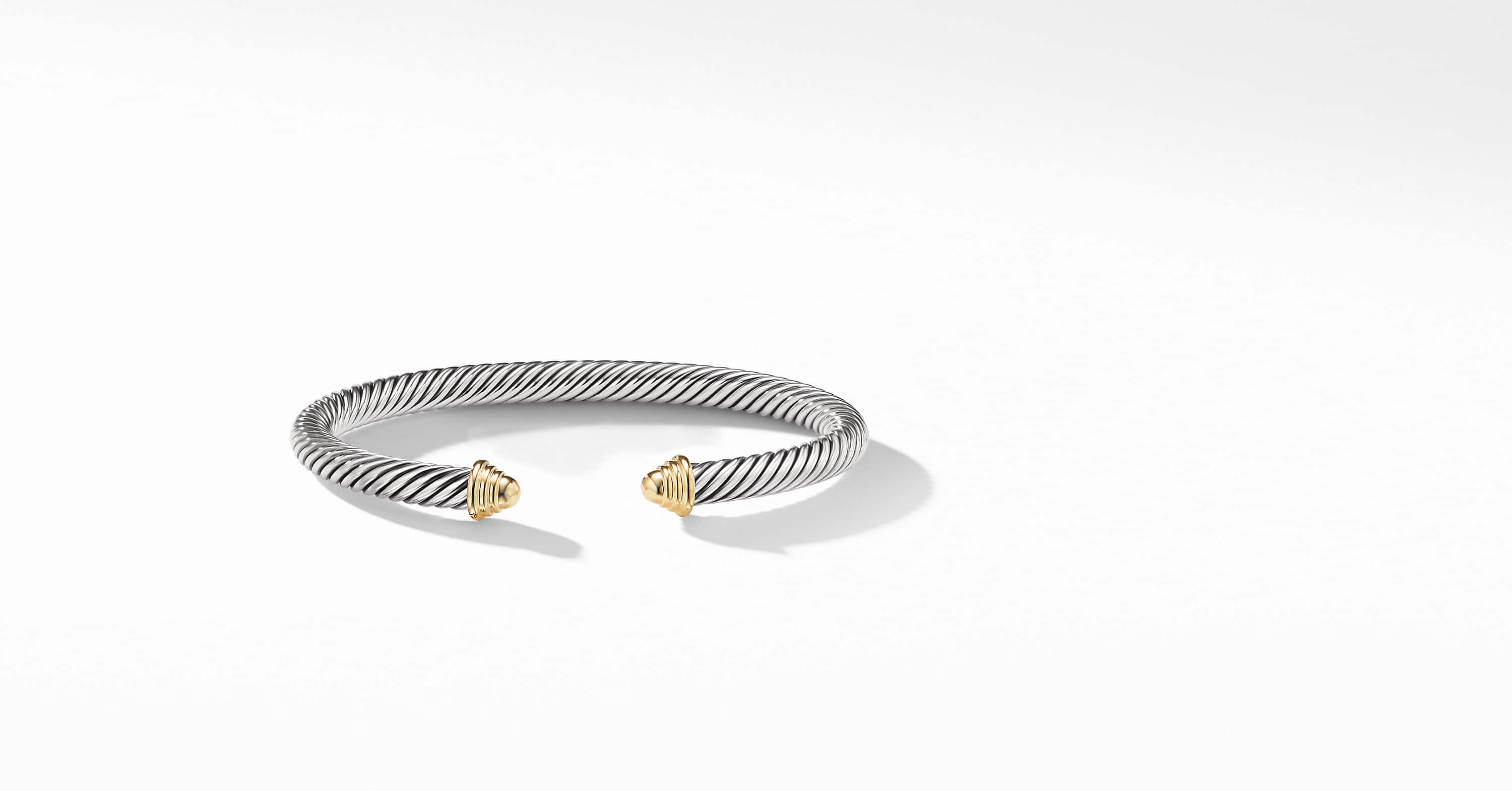 Cable Classic Collection Bracelet with 14K Yellow Gold, 5mm
