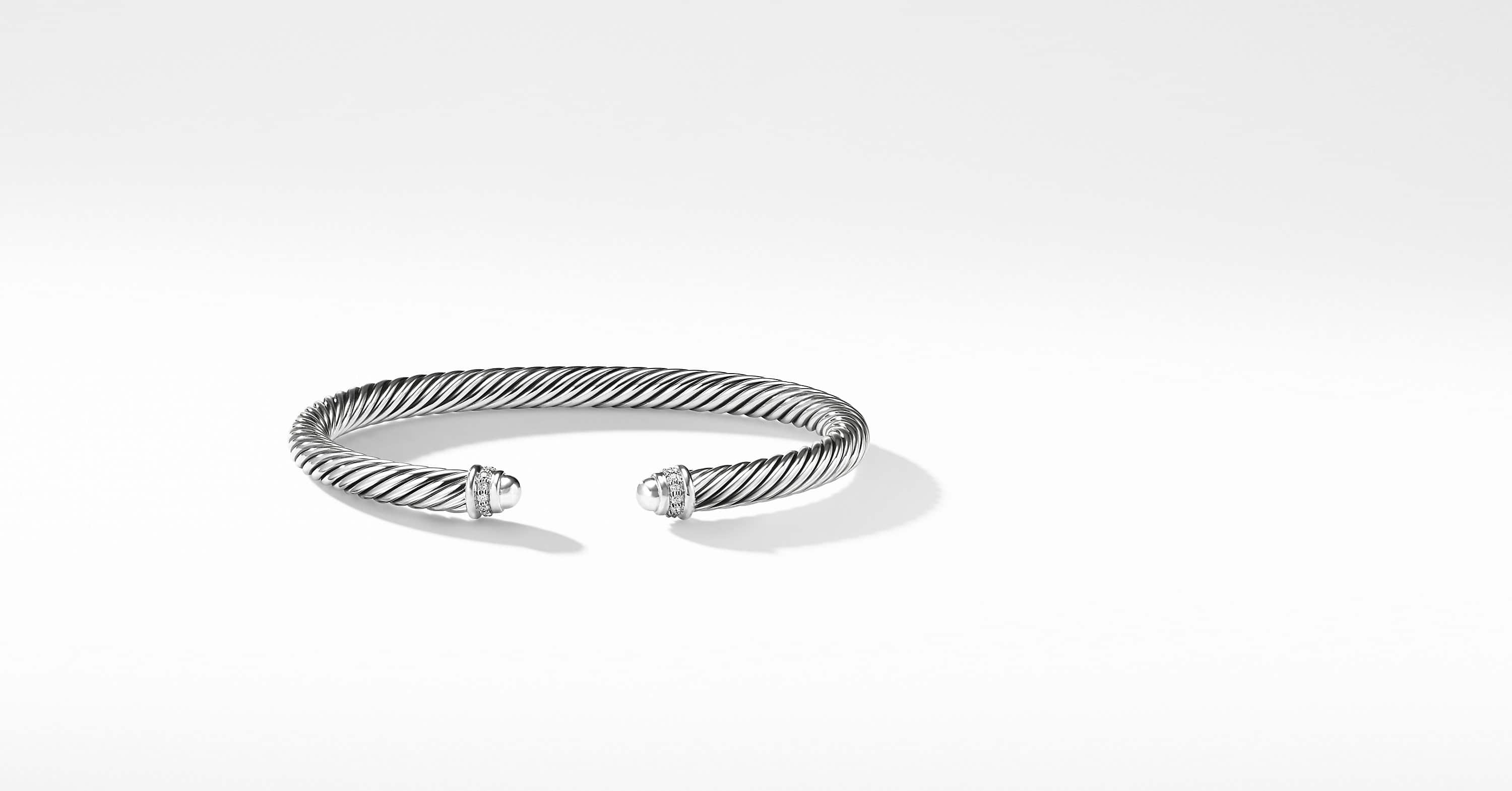 Cable Classic Collection Bracelet with Diamonds, 5mm