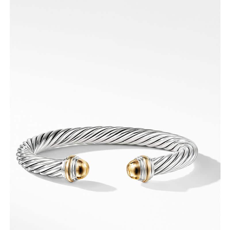 Cable Classic Collection Bracelet with 14K Yellow Gold, 7mm
