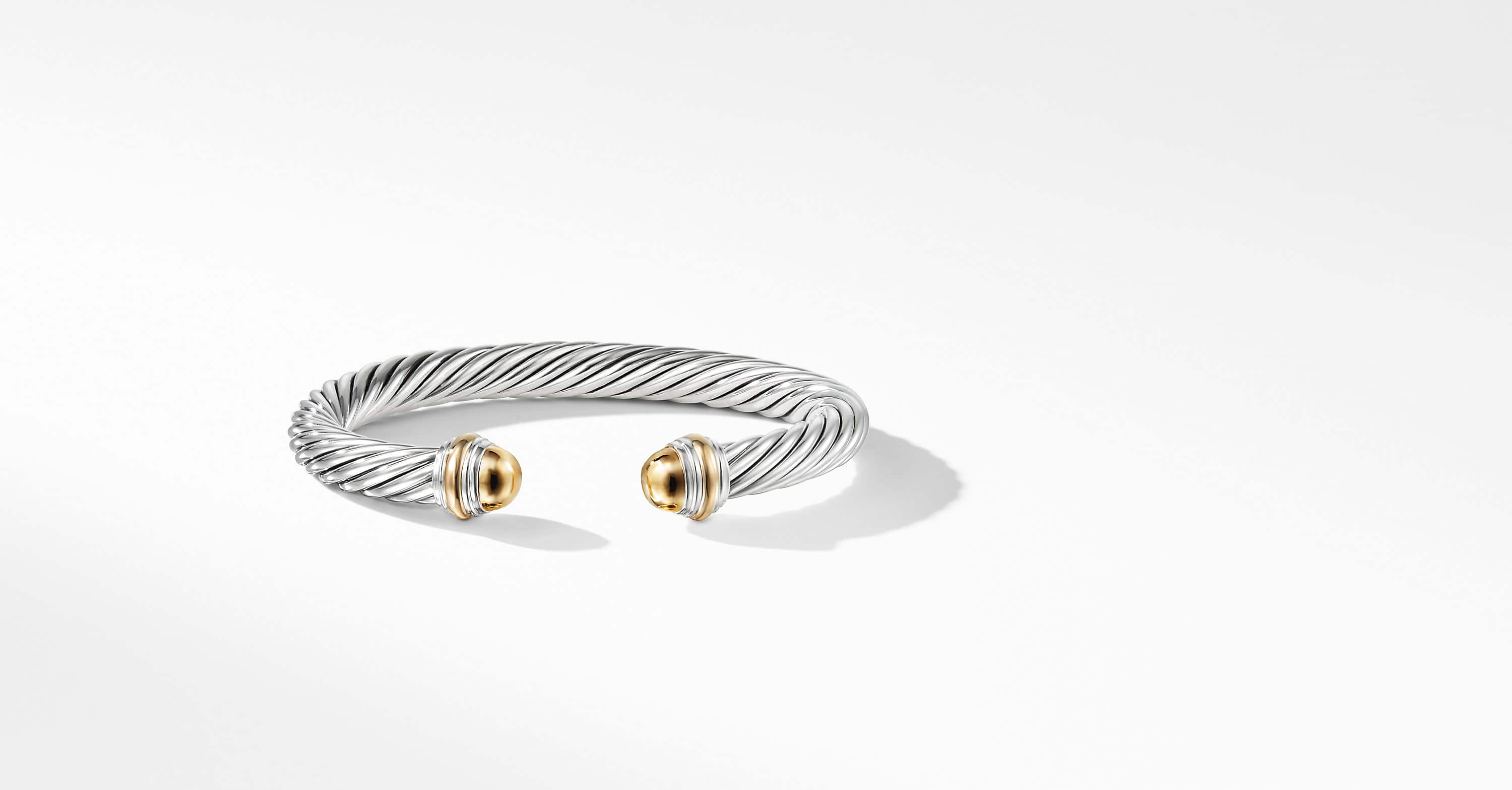 Cable Classics Bracelet with 14K Gold, 7mm