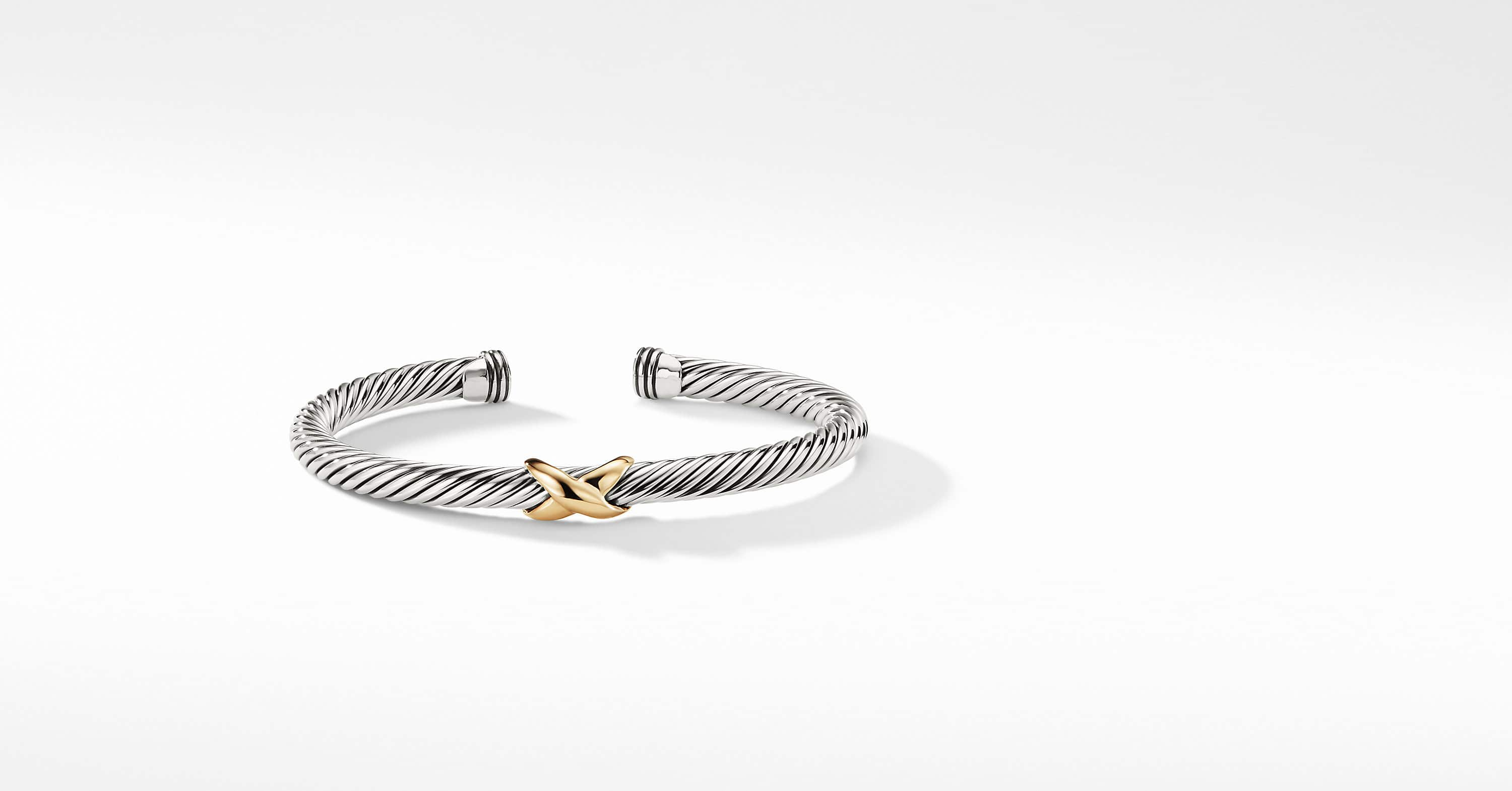 X Bracelet with 14K Gold