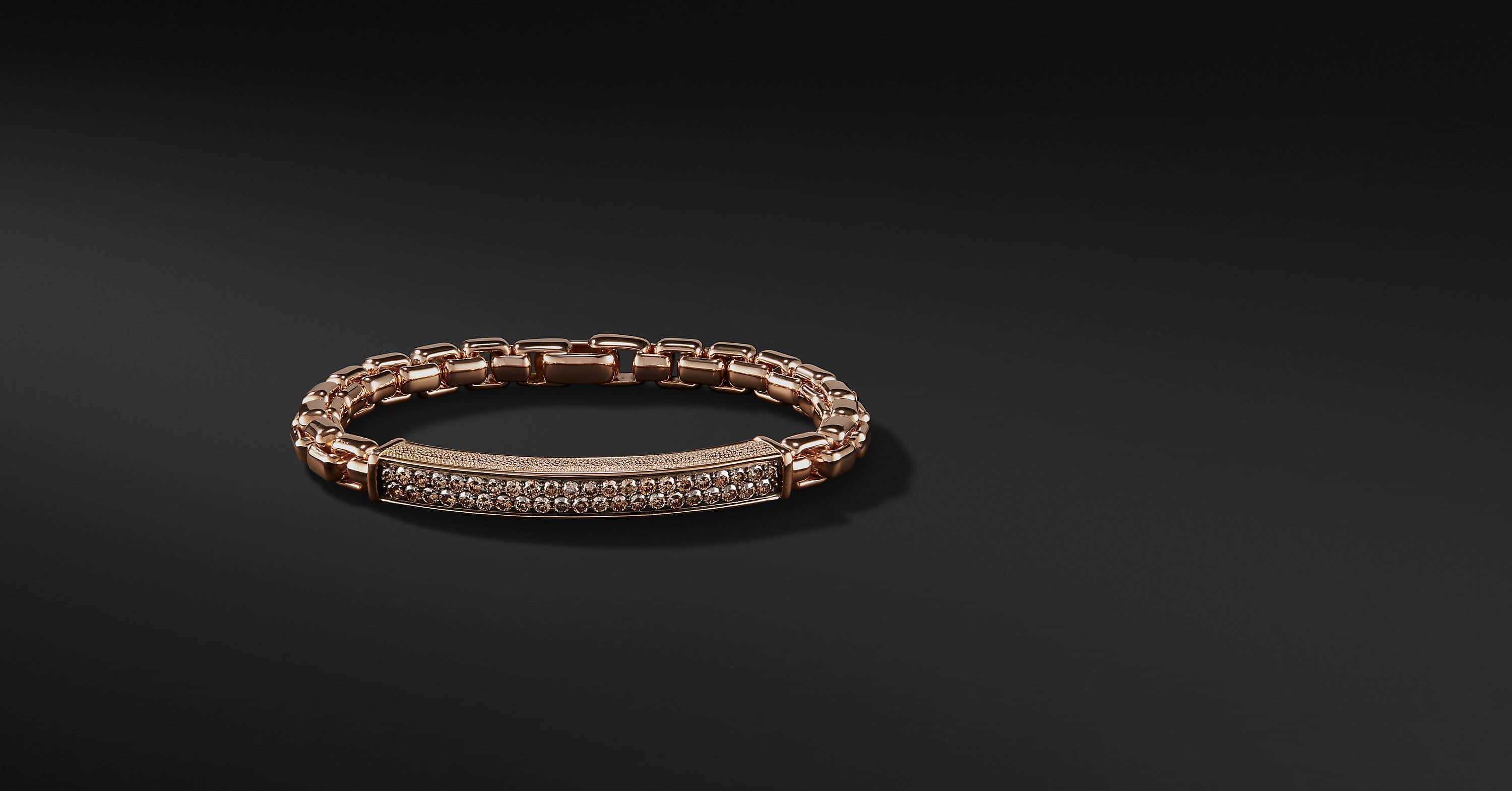 Bracelet Pavé avec diamants en or rose 18K