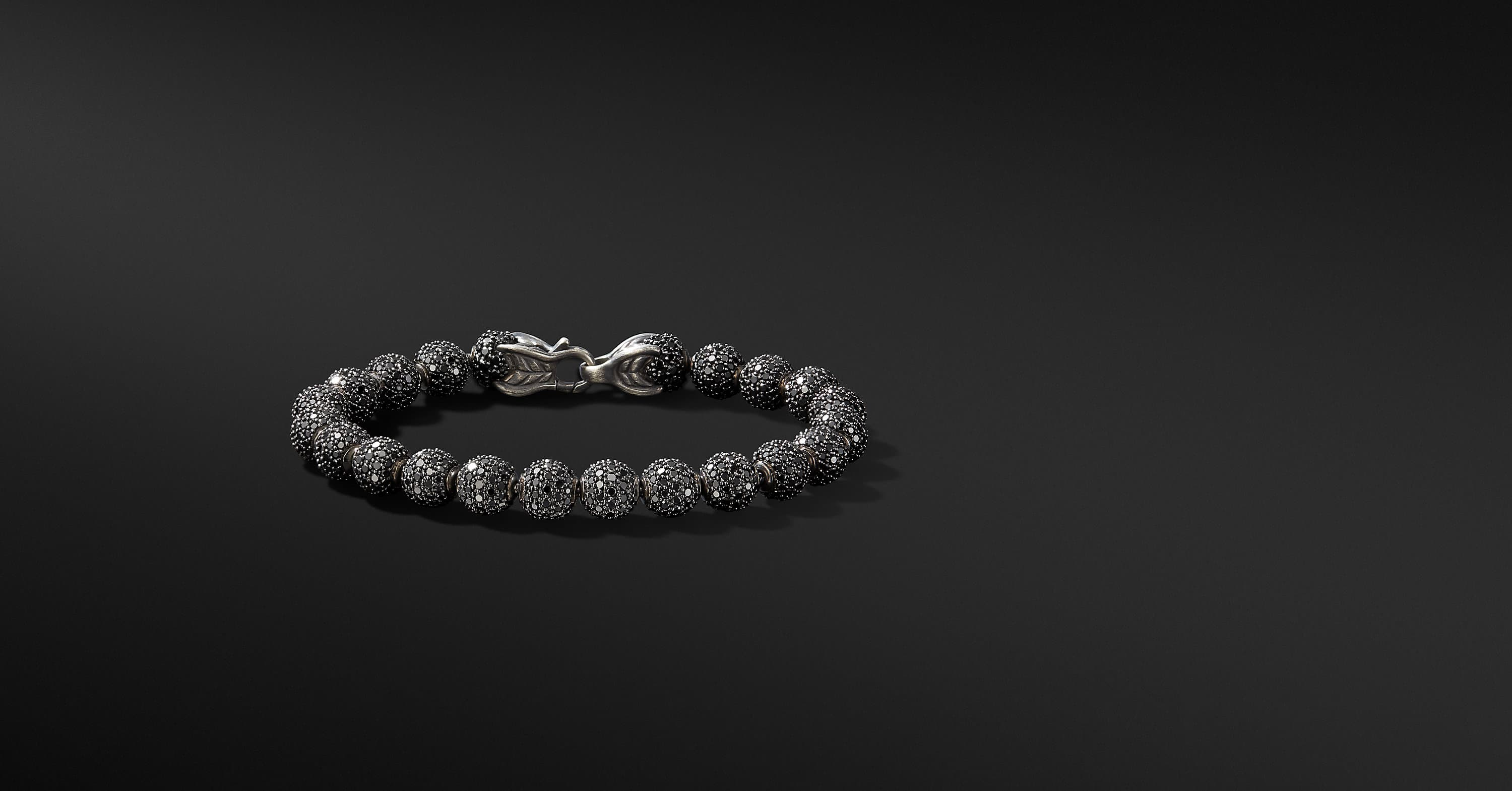 Spiritual Beads Bracelet with Diamonds, 8mm