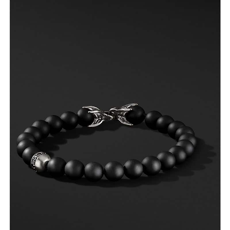 Spiritual Beads Bracelet with Accent, 8mm
