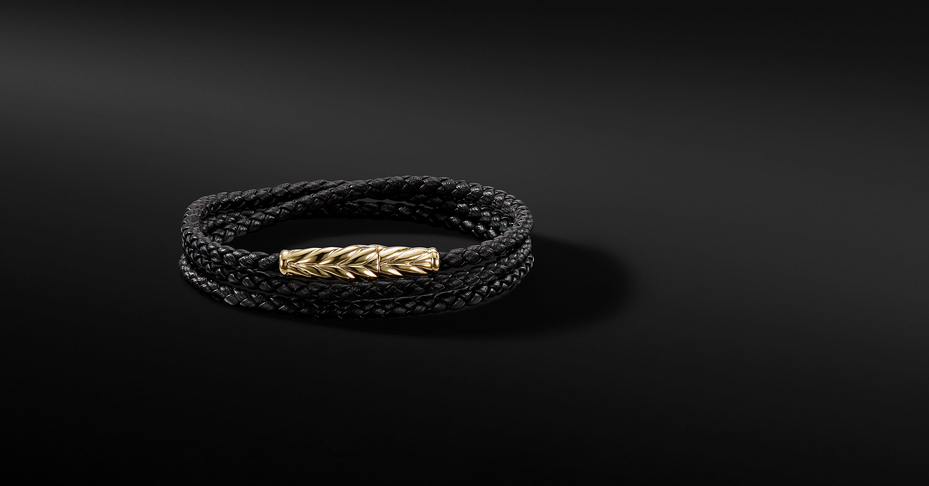 Chevron Triple-Wrap Bracelet with 18K Gold