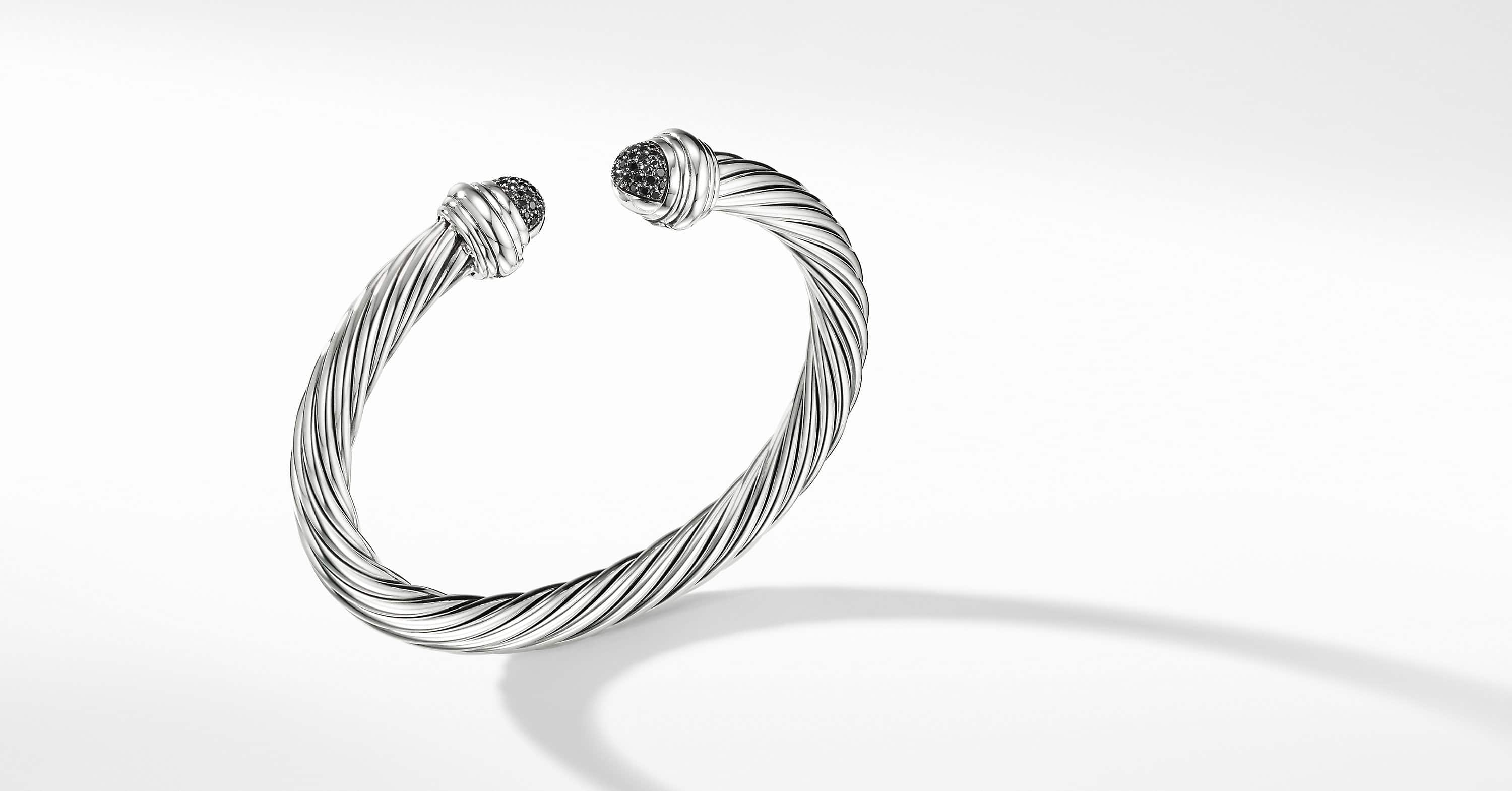 Cable Classic Bracelet with Diamonds, 7mm