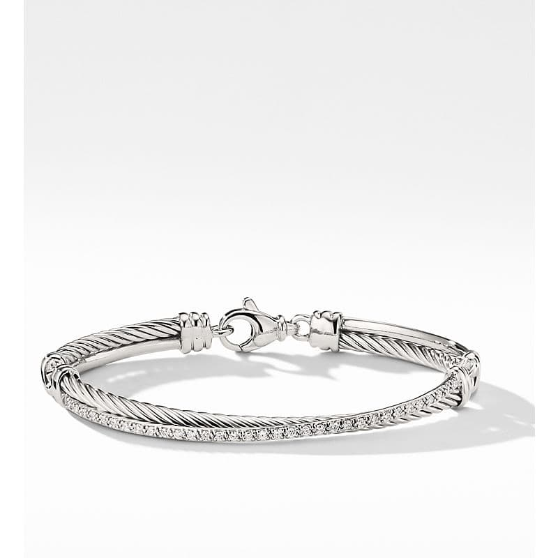 The Crossover Collection Bracelet with Diamonds