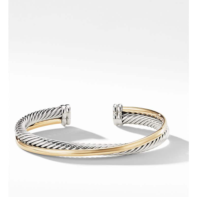 The Crossover Collection Cuff with 18K Yellow Gold, 5mm