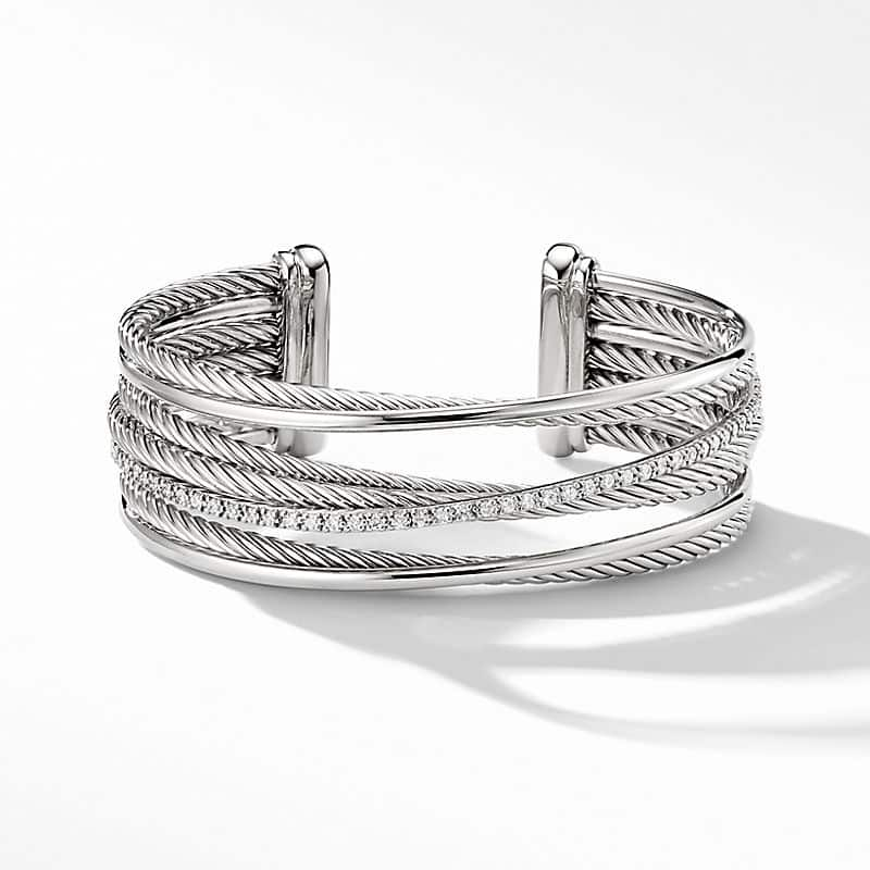 The Crossover Collection® Four-Row Cuff with Diamonds