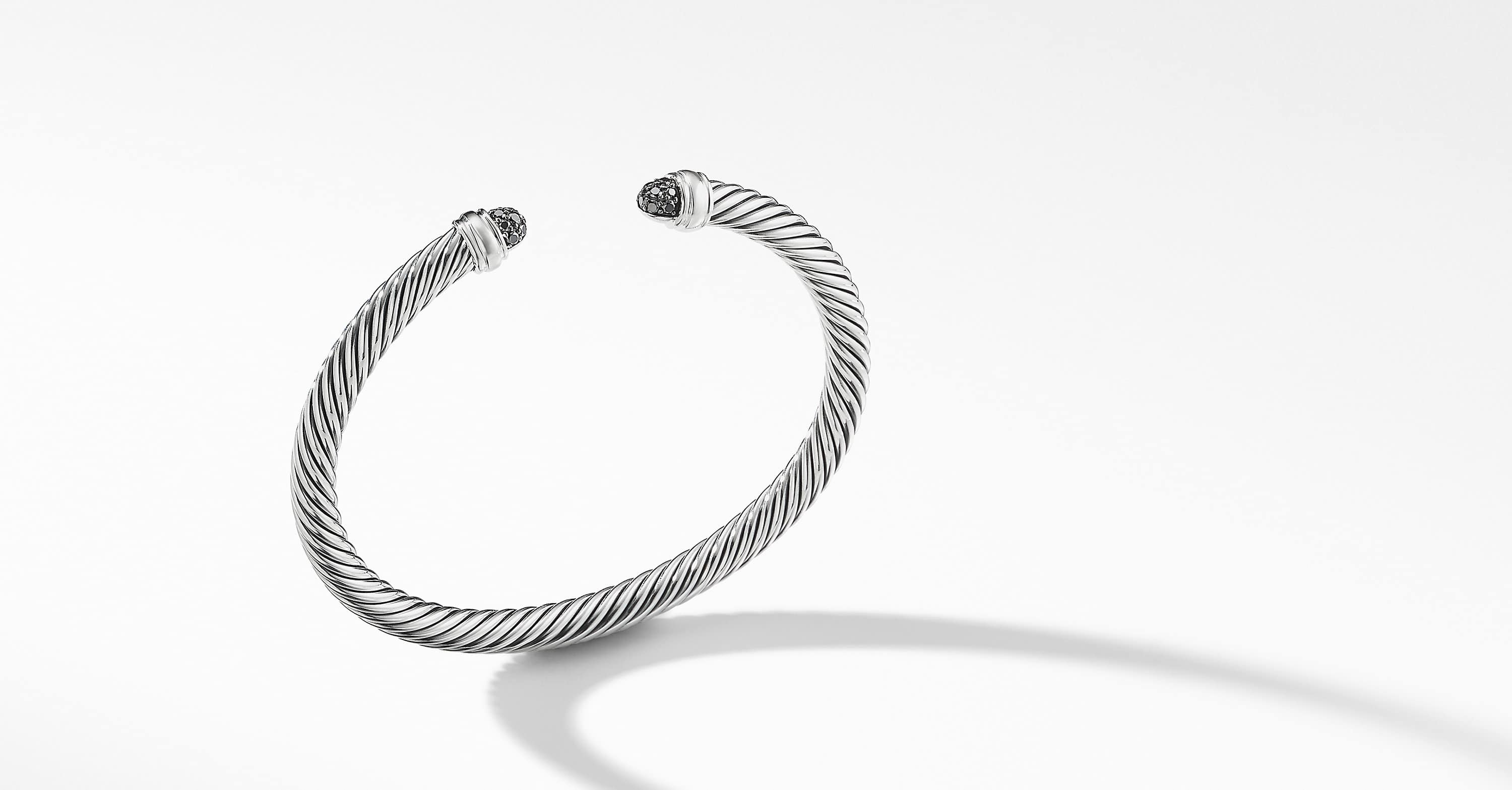 Cable Classic Bracelet with Diamonds, 5mm