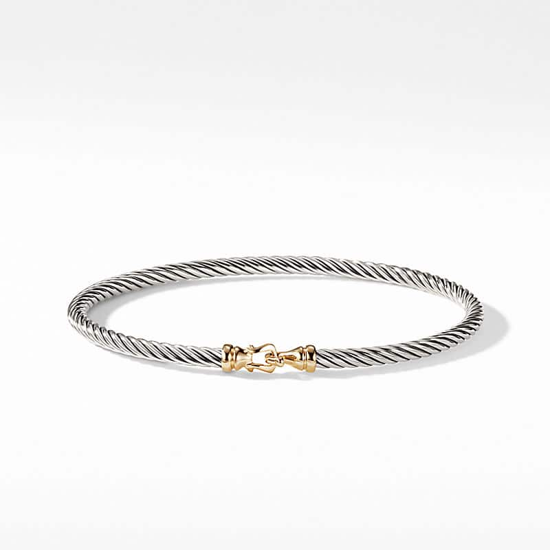 Cable Collectibles Buckle Bangle Bracelet with 18K Gold,