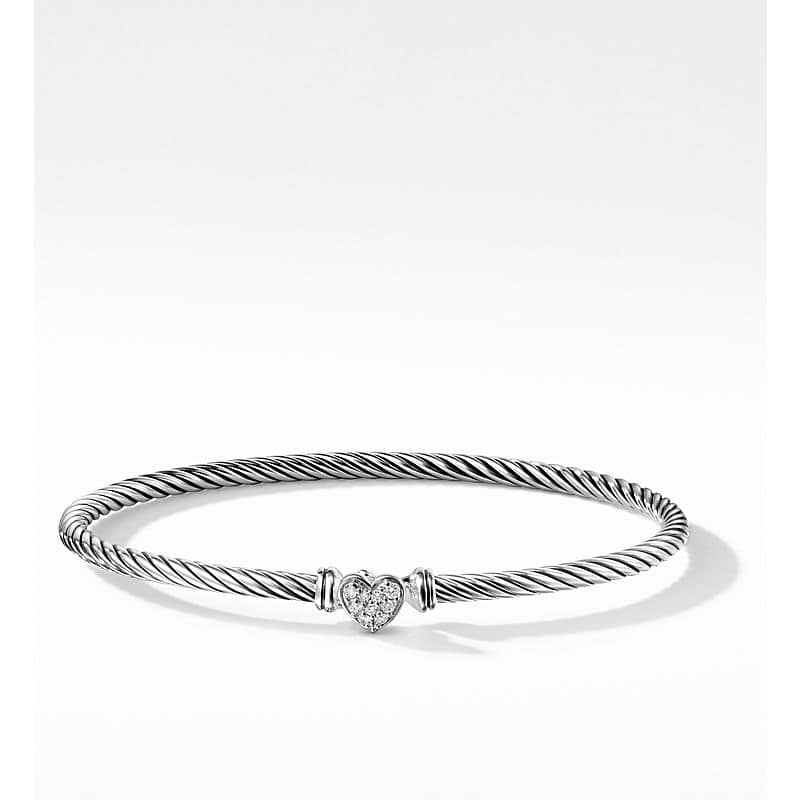 Cable Collectibles Heart Bracelet, 3mm