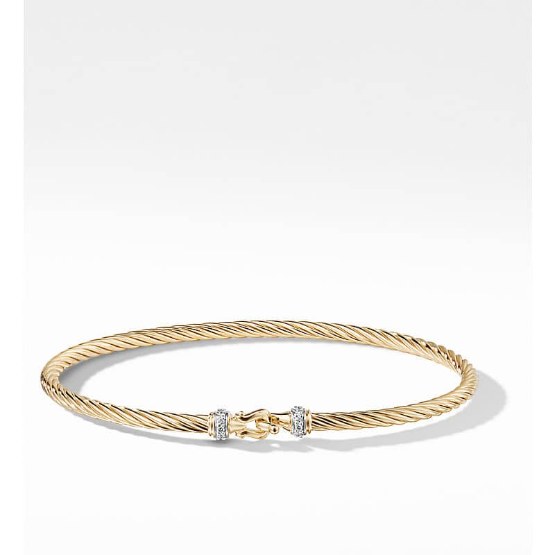 Cable Collectibles Buckle Bracelet in 18K Yellow Gold, 2.6mm