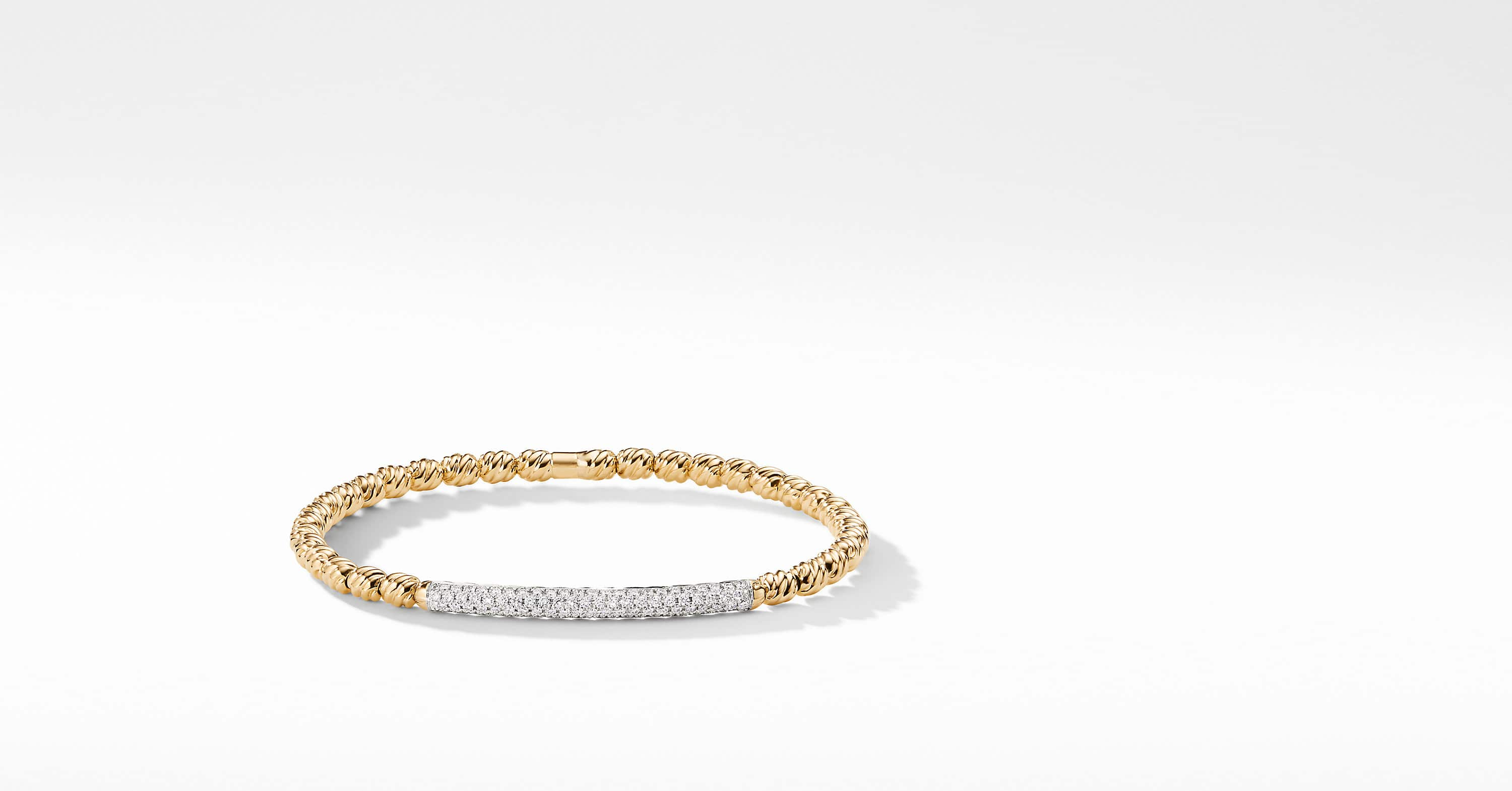 Petite Pavé Bracelet with Diamonds in 18K Gold