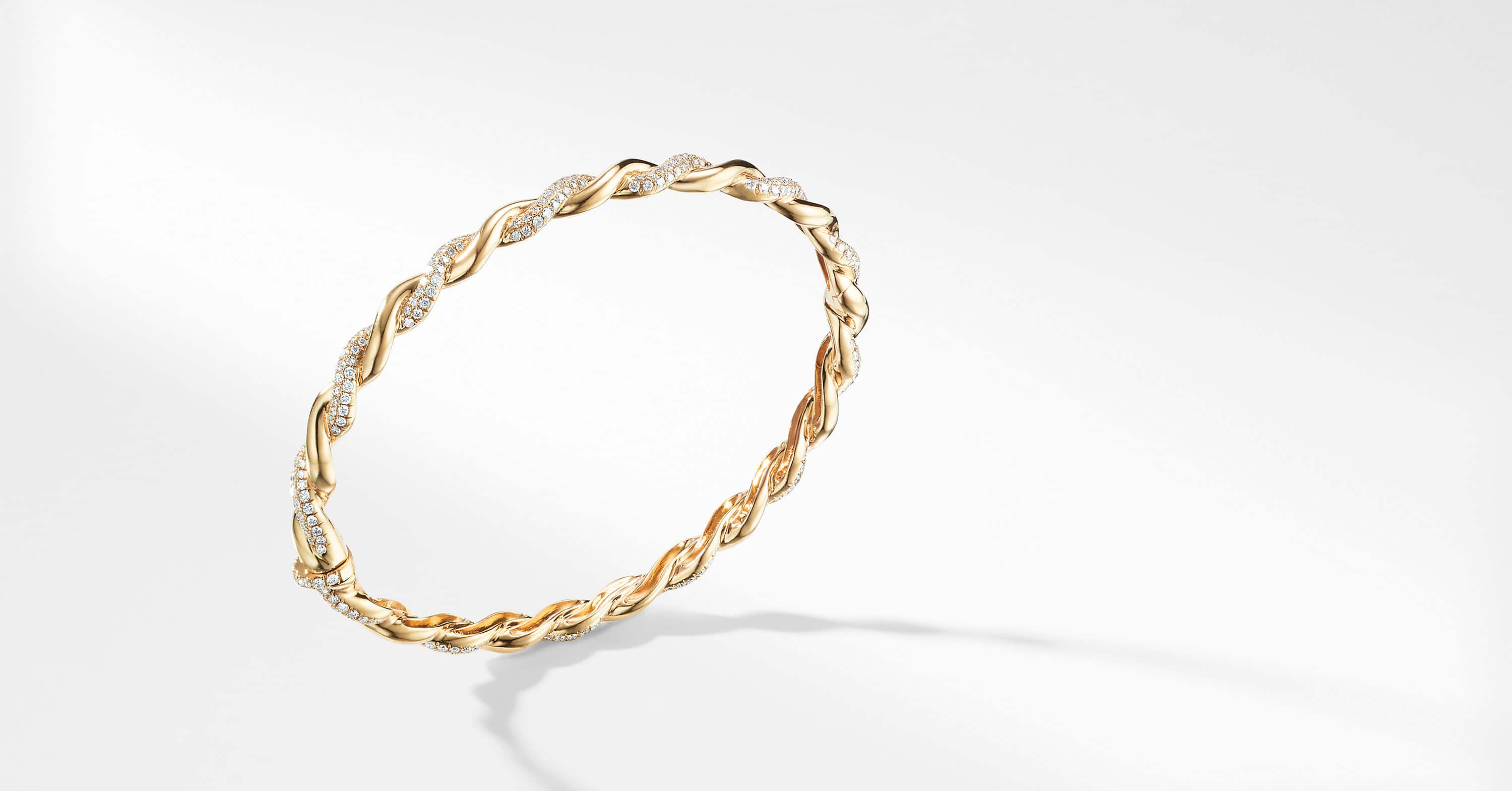 Wisteria Bracelet with Diamonds in 18K Gold, 5mm