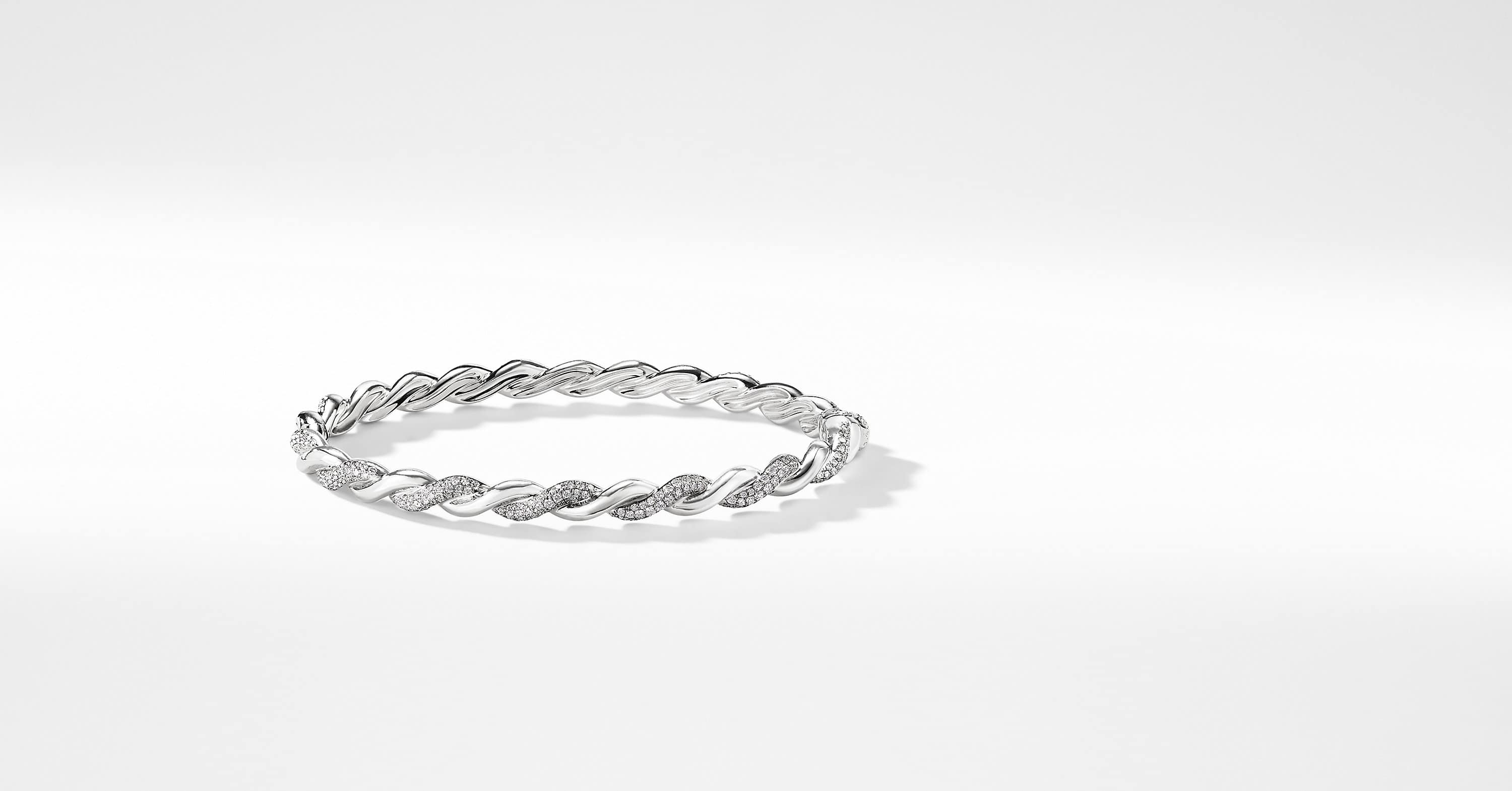 Wisteria Bracelet with Diamonds in White Gold