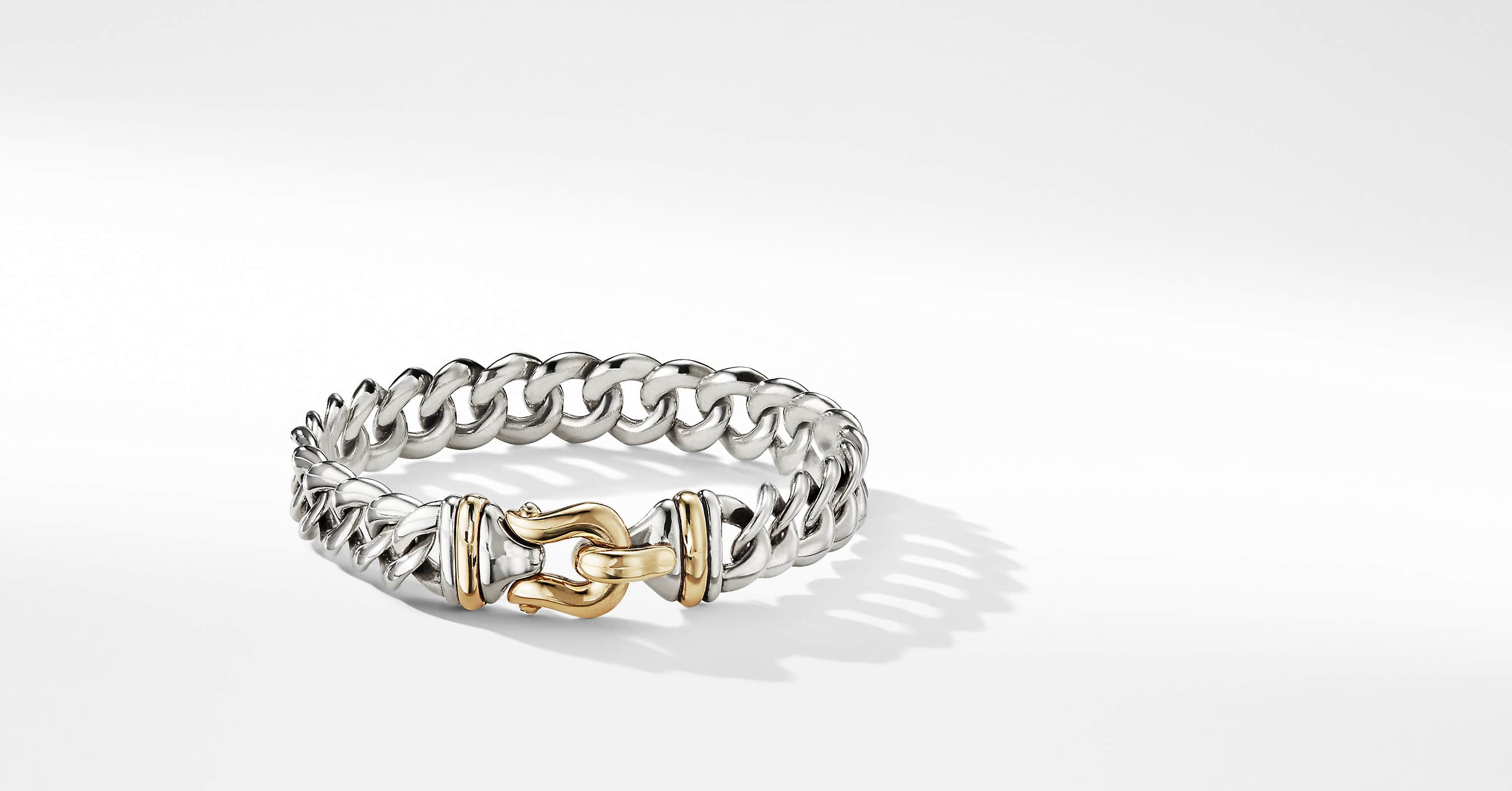 Buckle Single-Row Bracelet with 14K Gold, 10mm