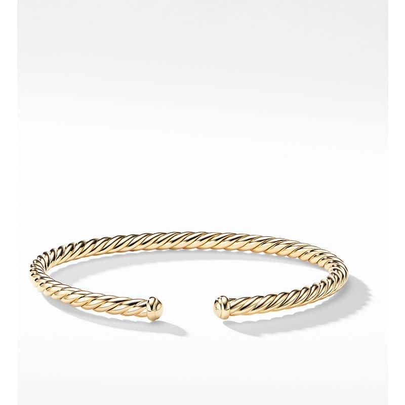 Cablespira Bracelet in 18K Yellow Gold, 4mm