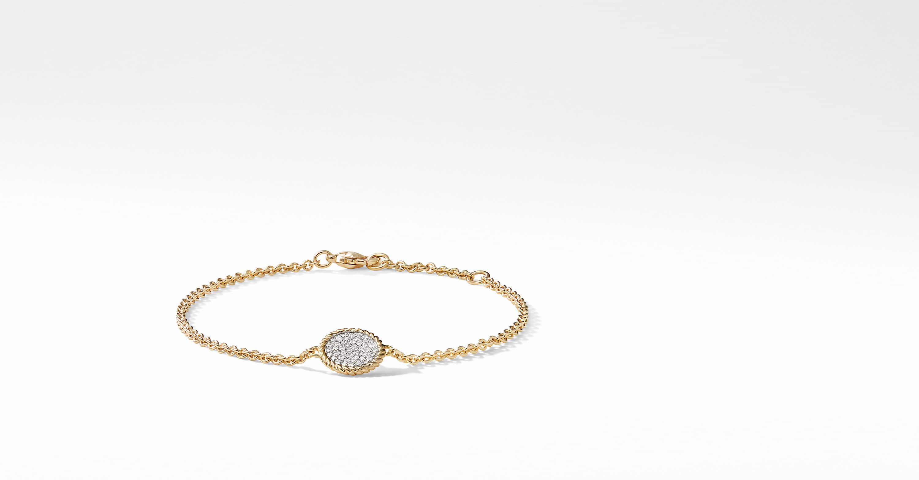 Cable Collectibles Bracelet with Diamonds in 18K Gold