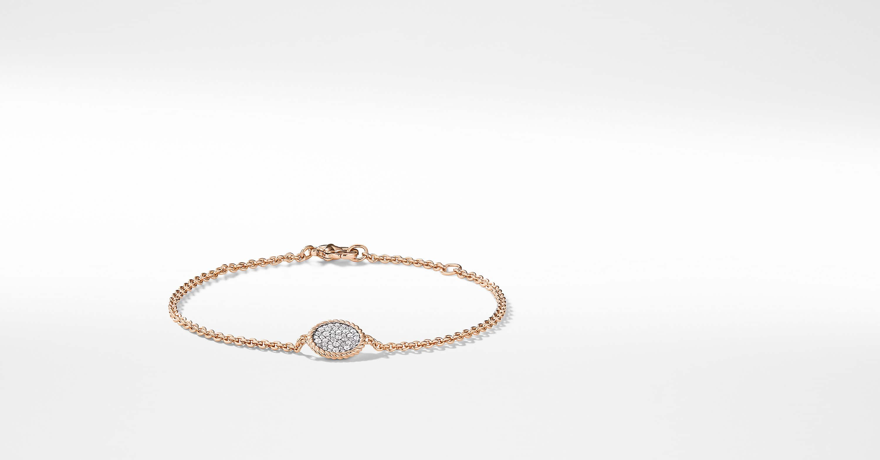 Bracelet « Cable » Collectibles en or rose 18 carats et diamants