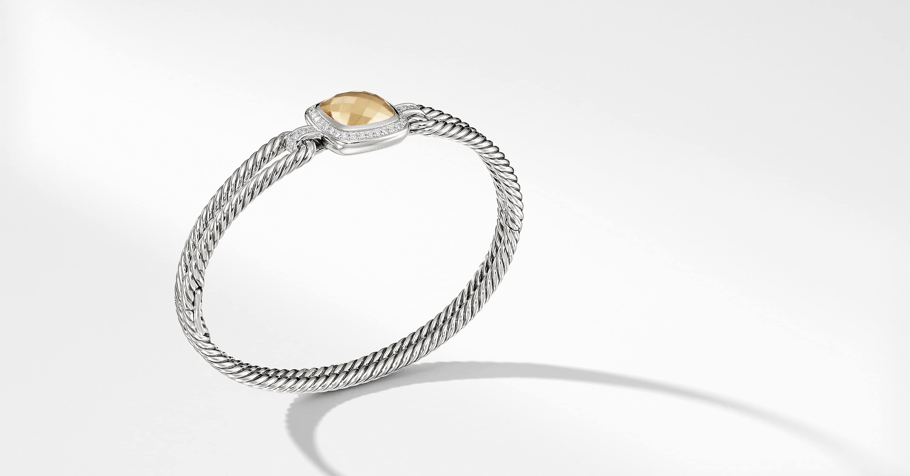 Albion Bracelet with Diamonds and 18K Gold, 6mm