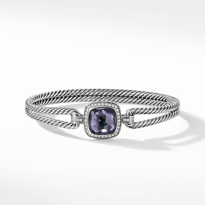 Albion® Bracelet with Black Orchid and Diamonds, 11mm