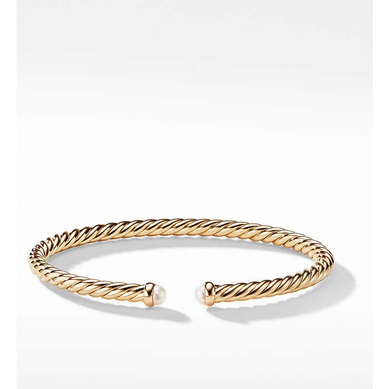 Cablespira Color Bracelet in 18K Yellow Gold, 4mm