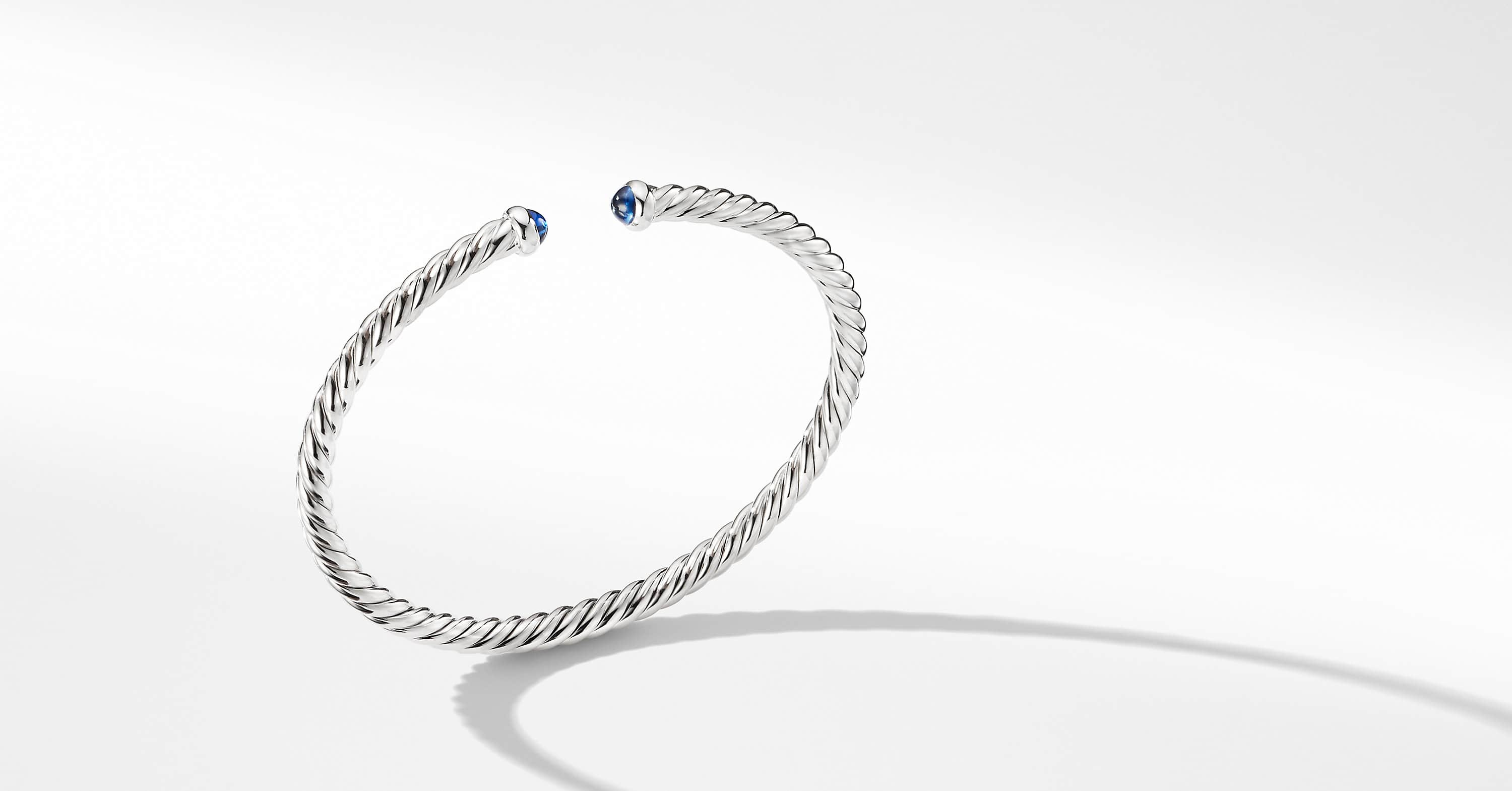 Bracelet Cable Spira en or blanc 18K, 4 mm