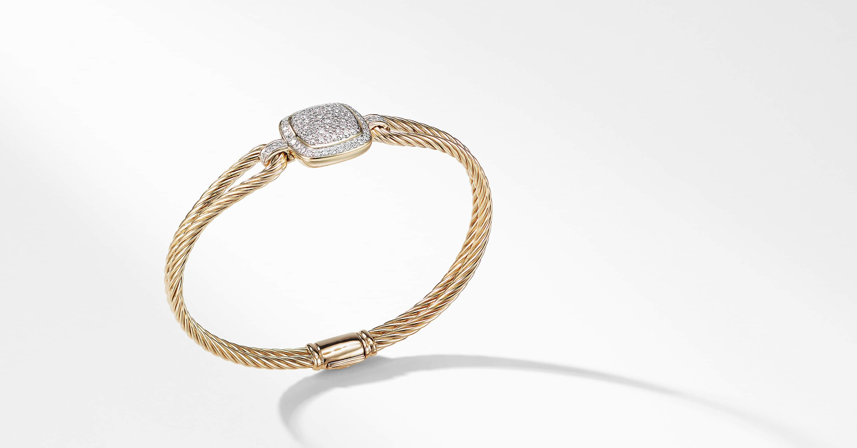 Albion Bracelet with Diamonds in 18K Gold, 15mm