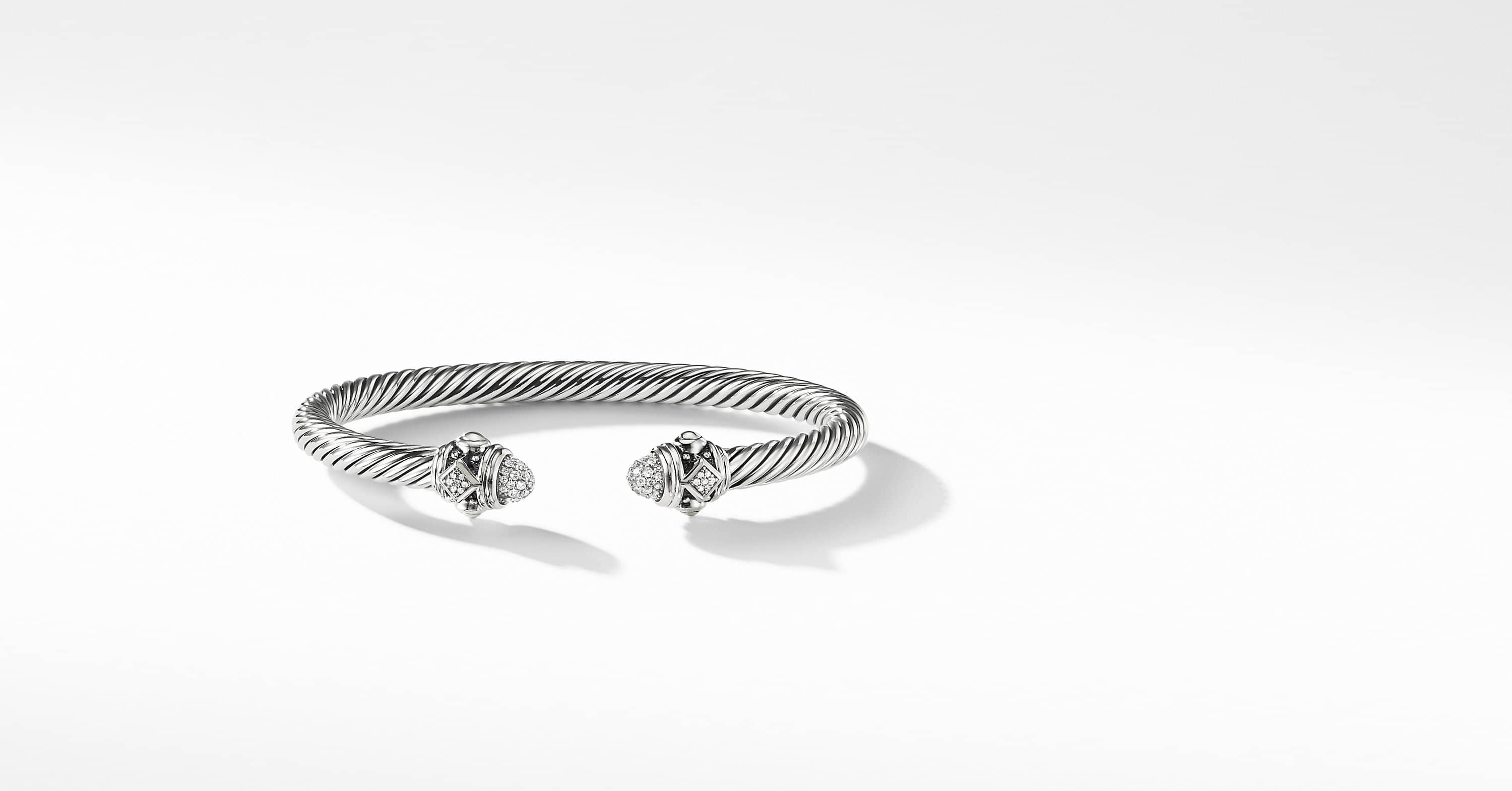 Renaissance Bracelet with Diamonds in Silver, 5mm