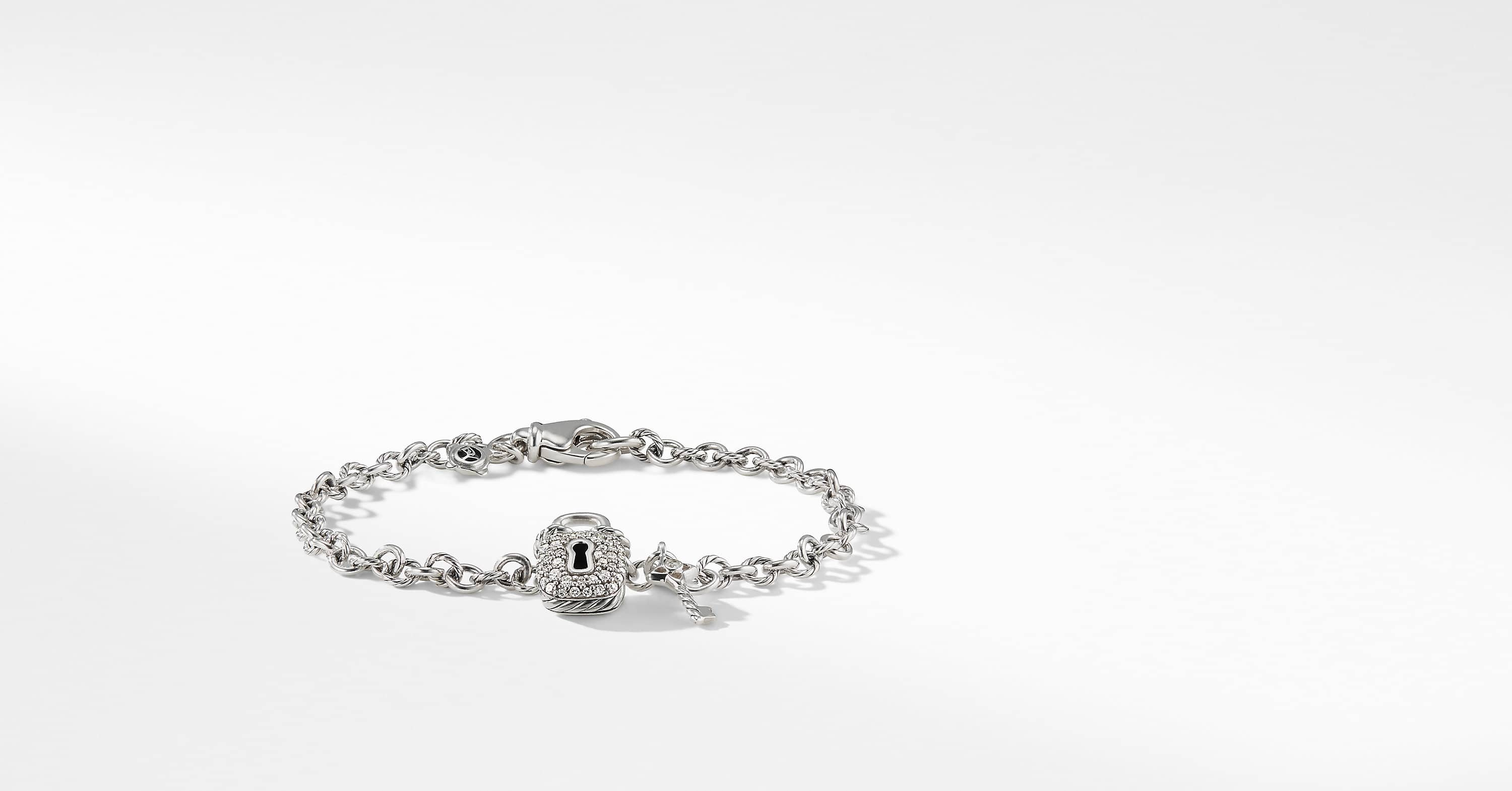 Cable Collectibles Lock and Key Charm Bracelet with Diamonds