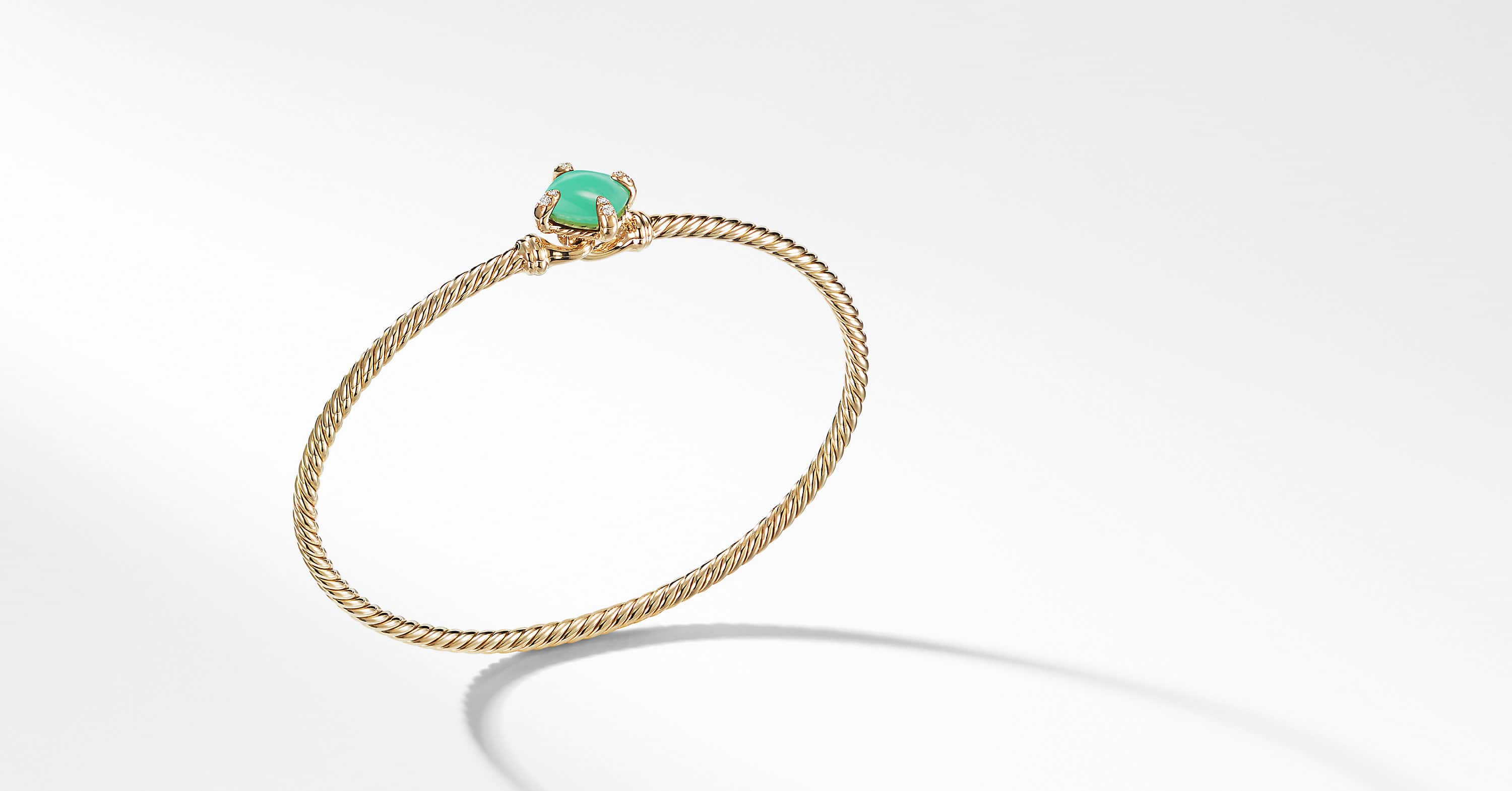 Chatelaine Bracelet with Diamonds in 18K Gold, 8mm