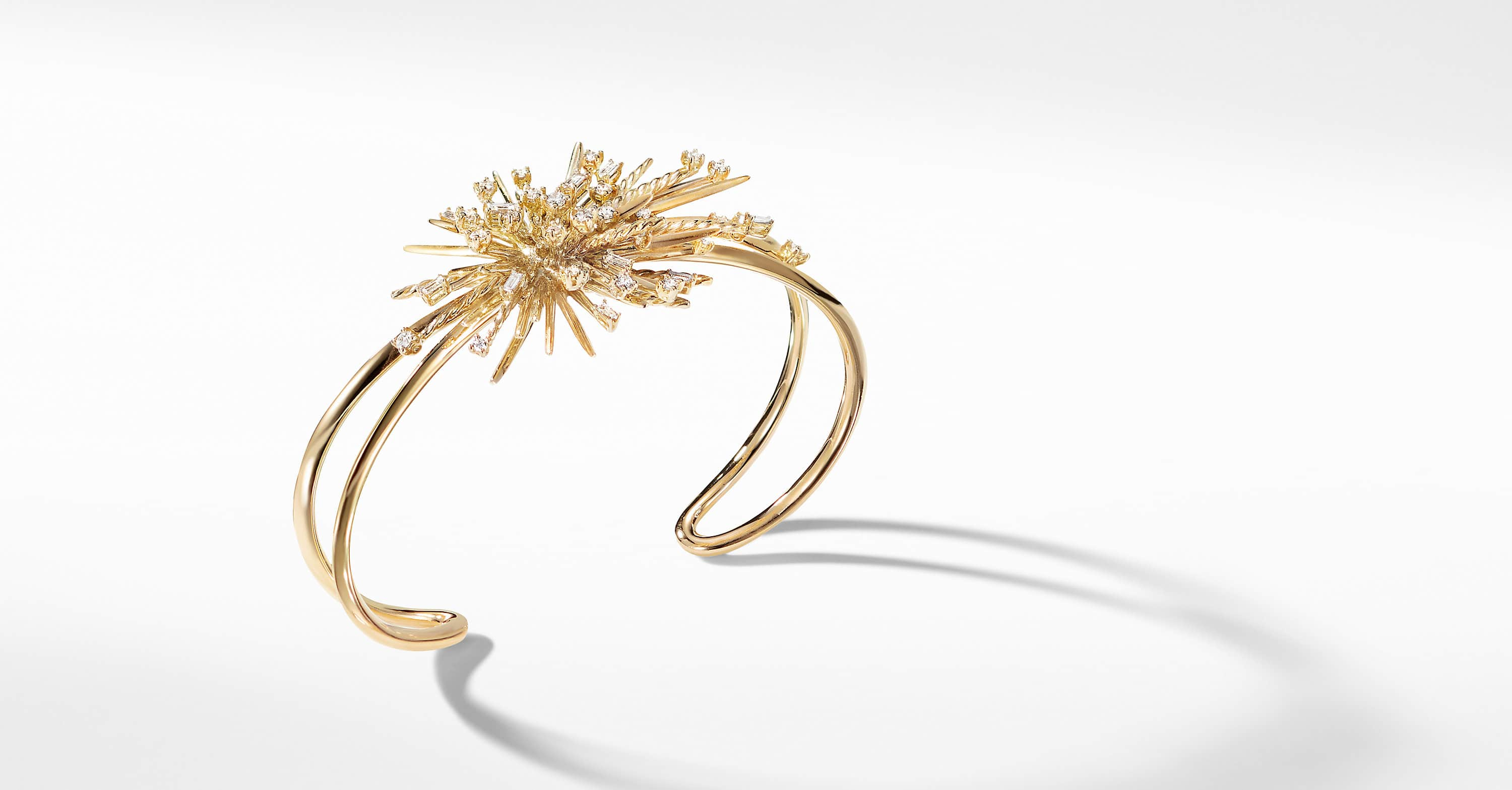 Supernova Cuff Bracelet with Diamonds in 18K Gold