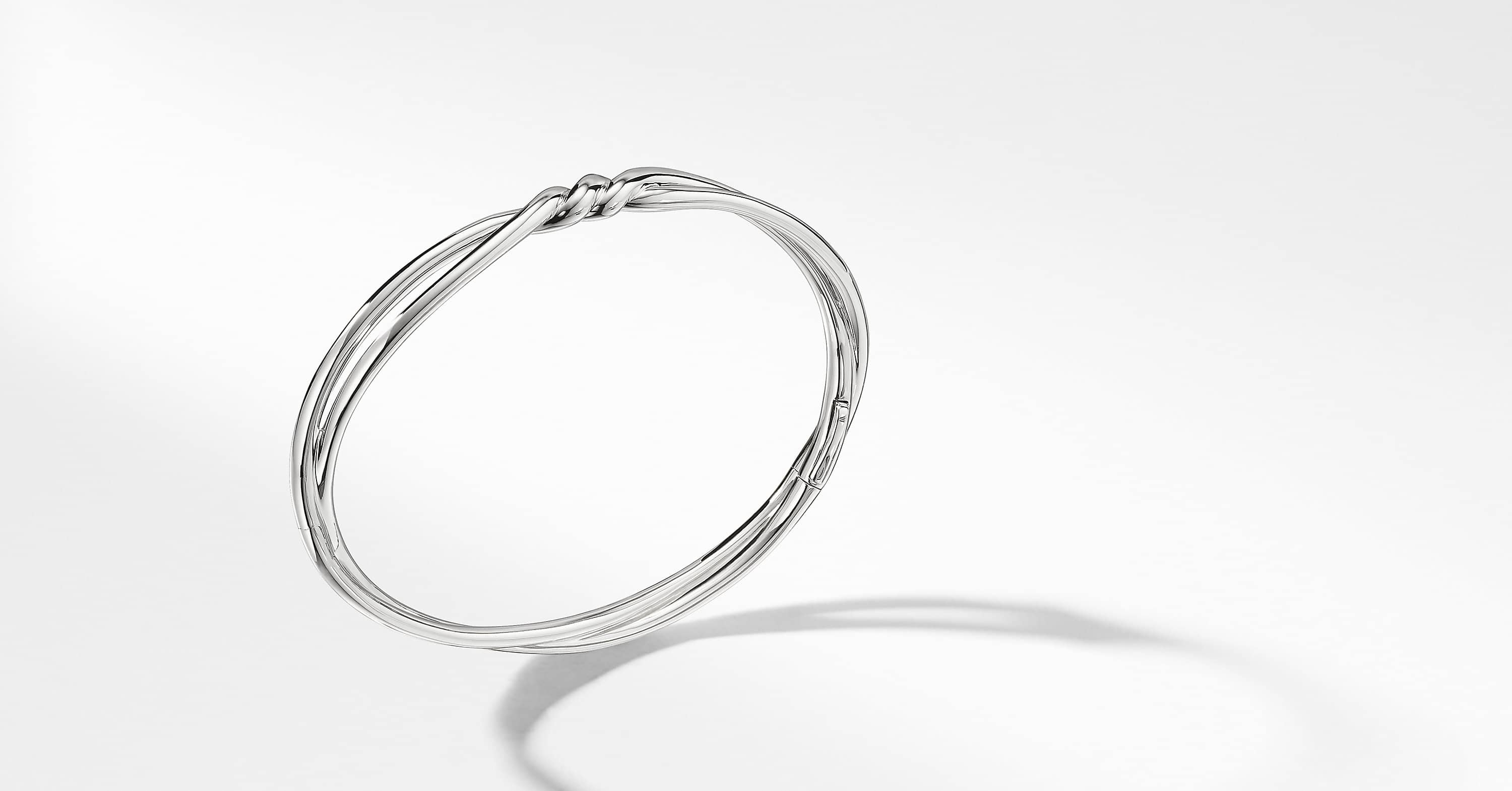 Continuance Center Twist Bracelet in 18K White Gold