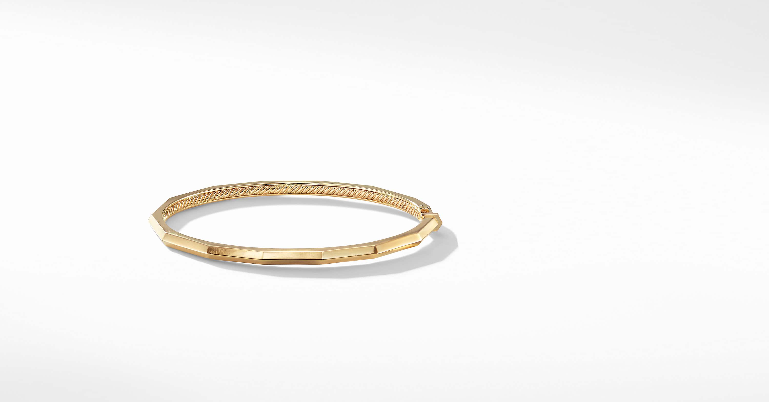Bracelet Stax un rang facetté en or 18K, 3 mm