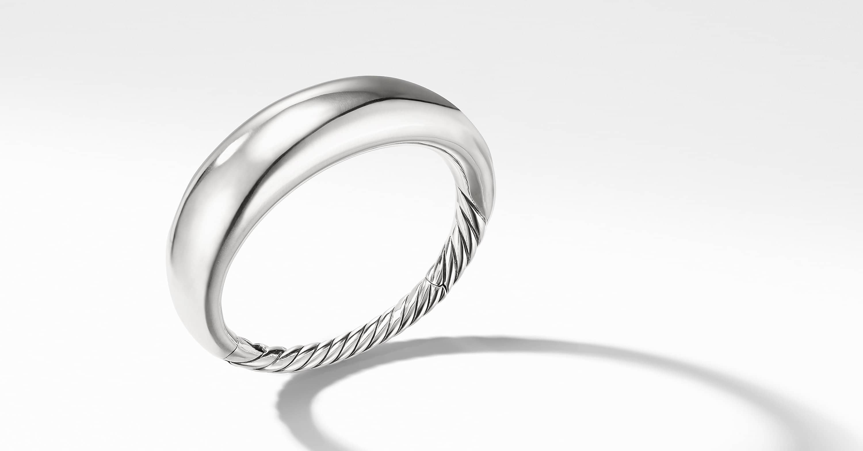 Pure Form Smooth Bracelet, 17mm