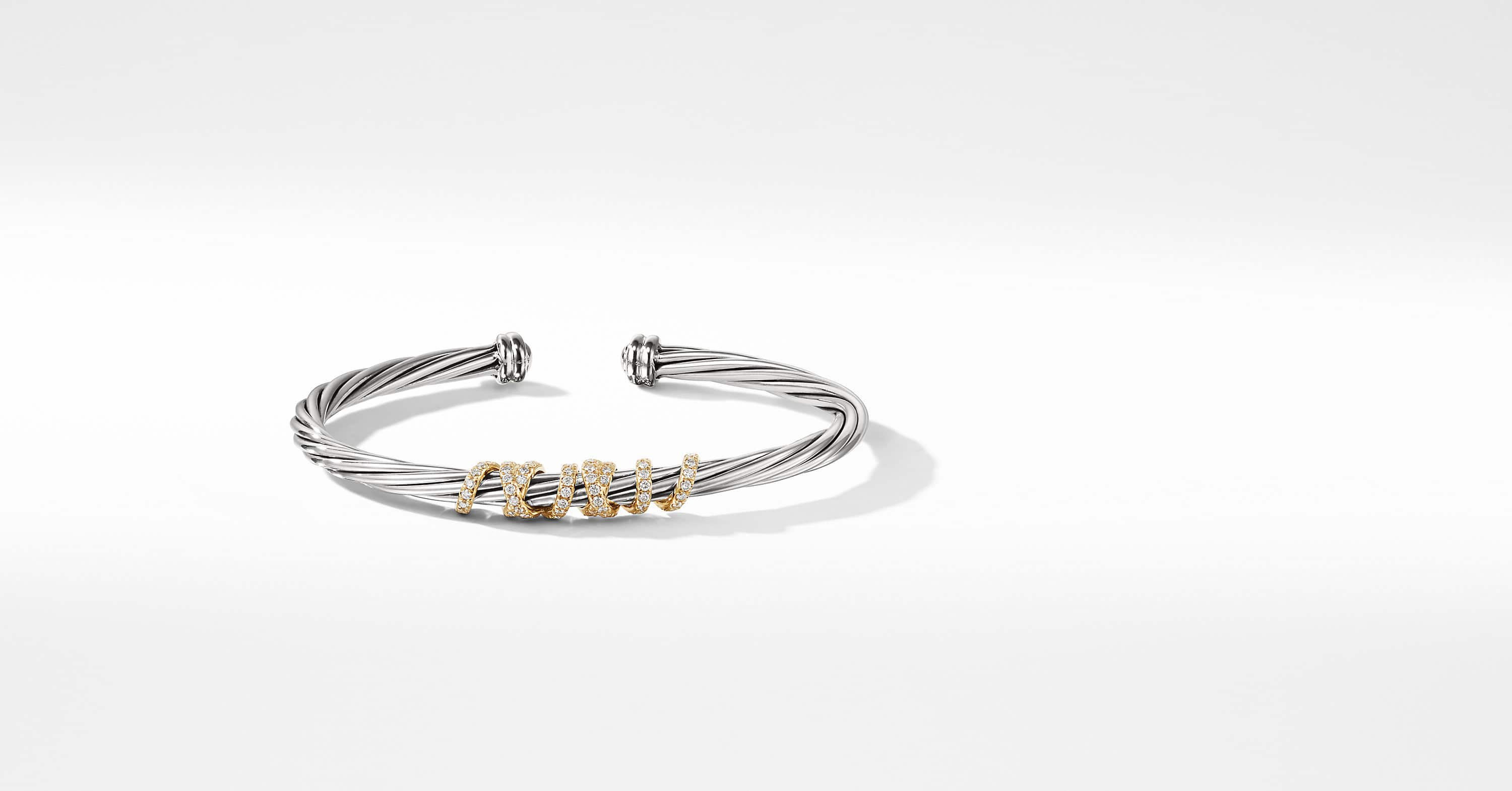 Bracelet Helena Center Station avec diamants et or 18K, 4 mm