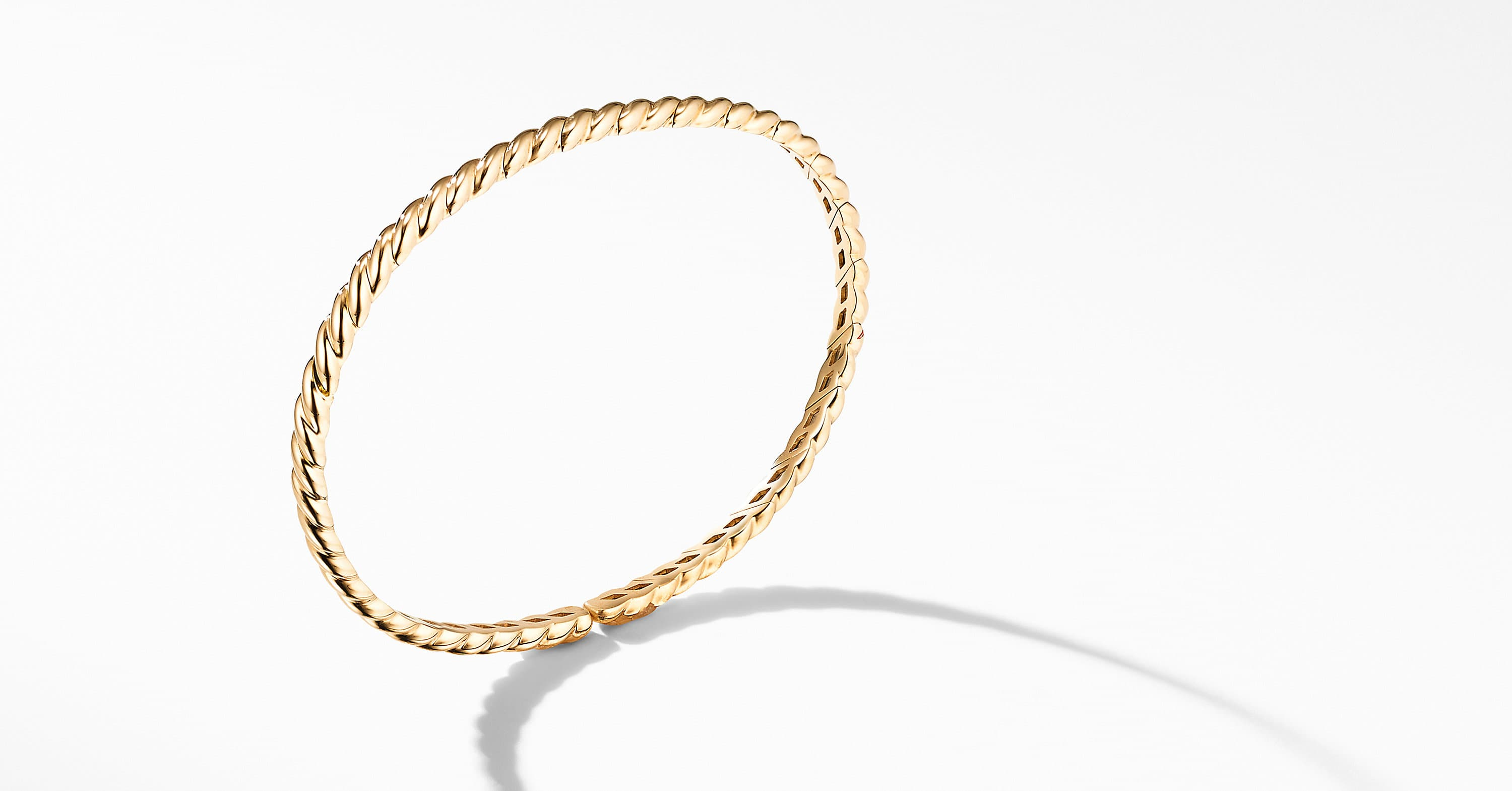 Gold Flex Single Row Bracelet in 18K Yellow Gold