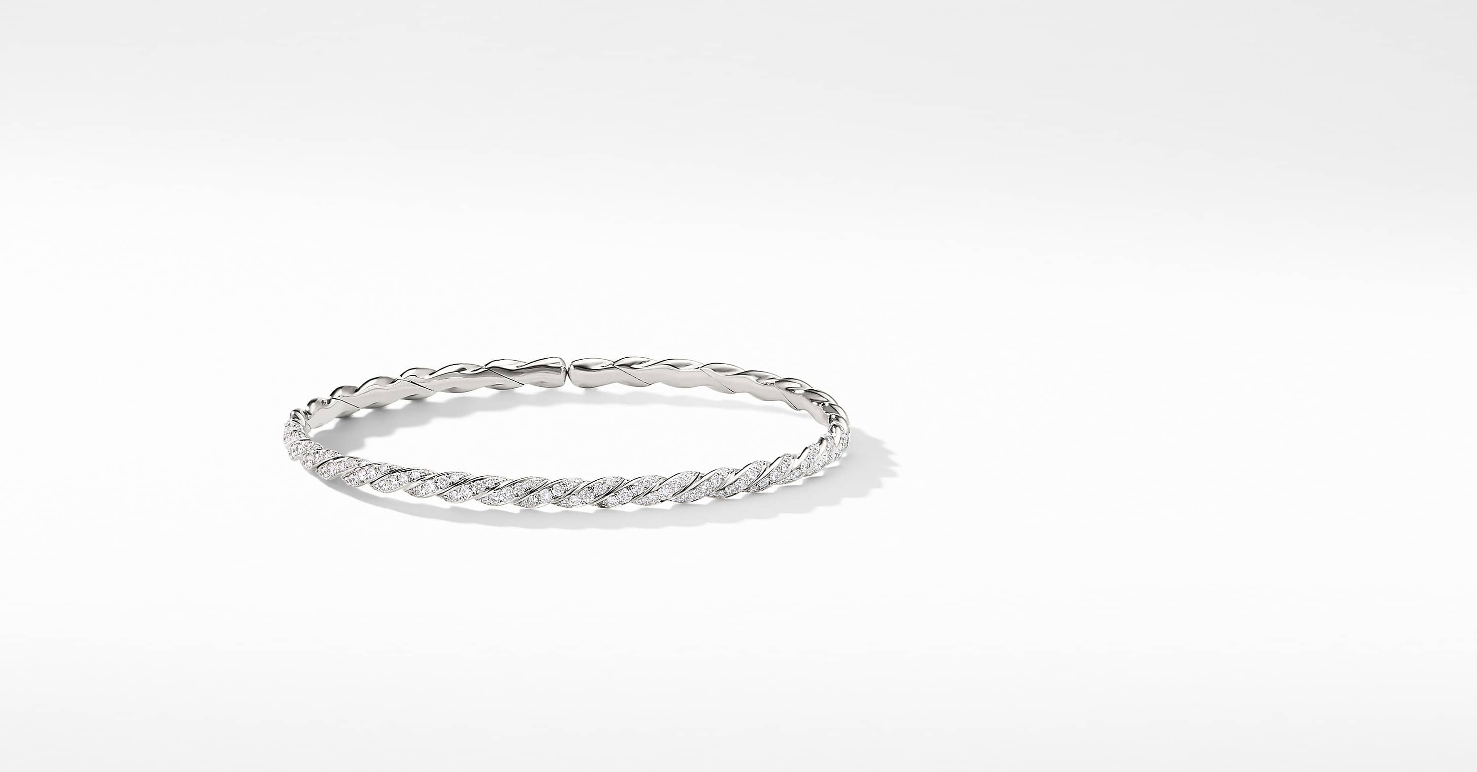 Bracelet Pavéflex à rang simple en or blanc 18 carats et diamants