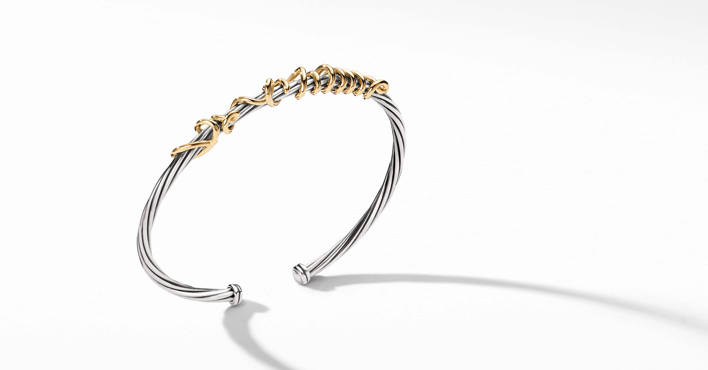 DY Whispers Je T'aime Bracelet with 14K Gold