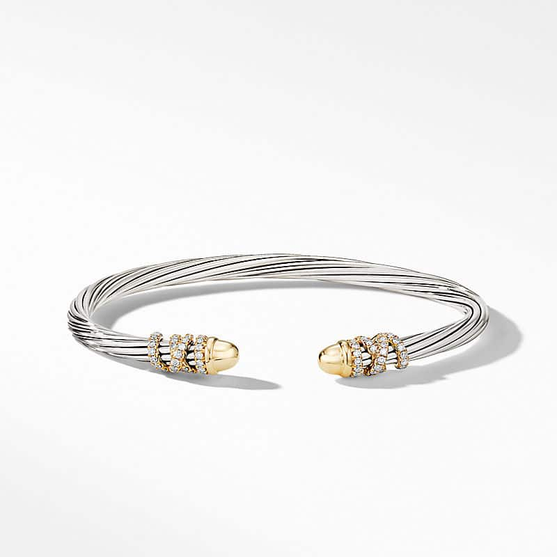 Helena Bracelet with Gold Dome and Diamonds