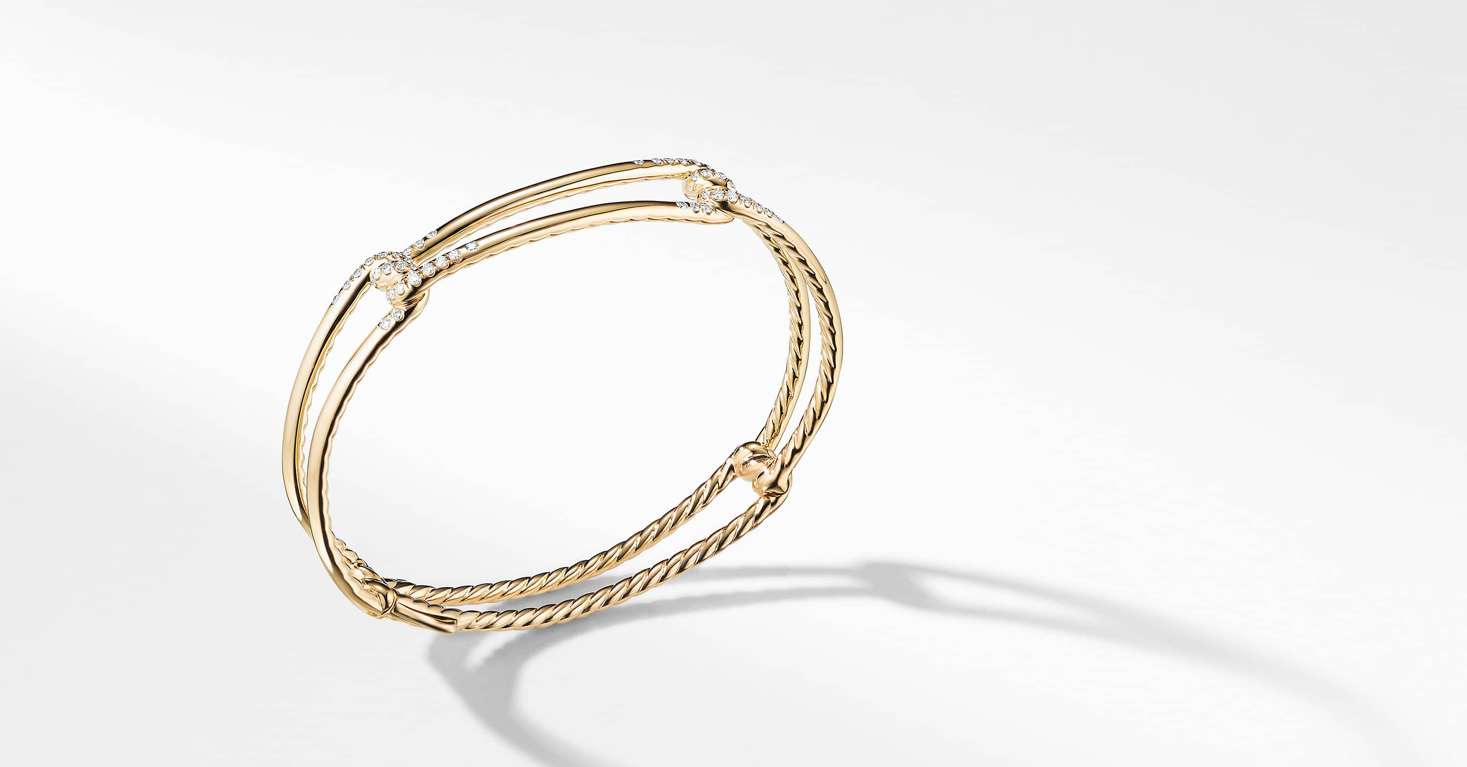 Continuance Bracelet with Diamonds in 18K Gold