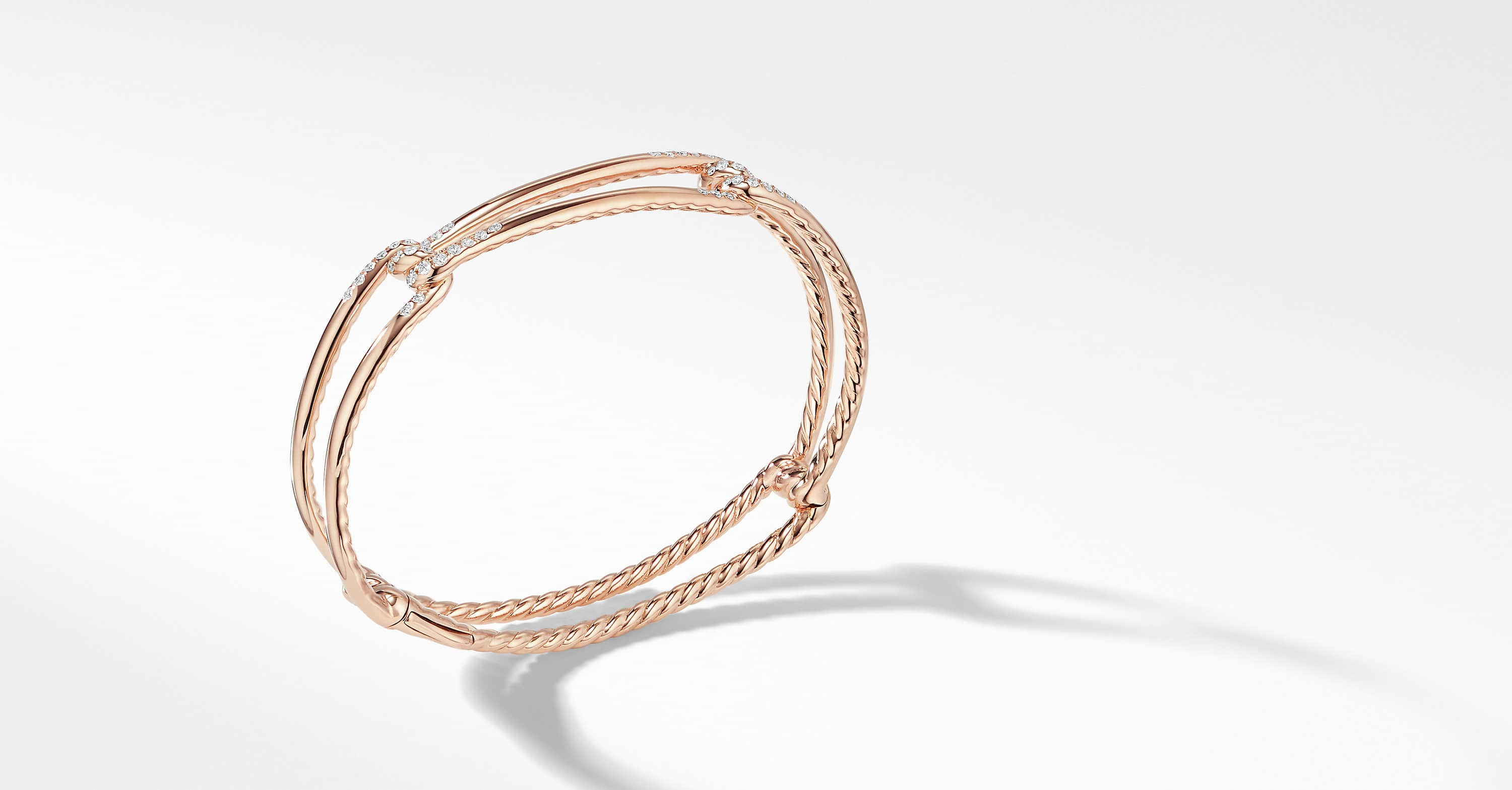 Bracelet Continuance en or rose 18K avec diamants