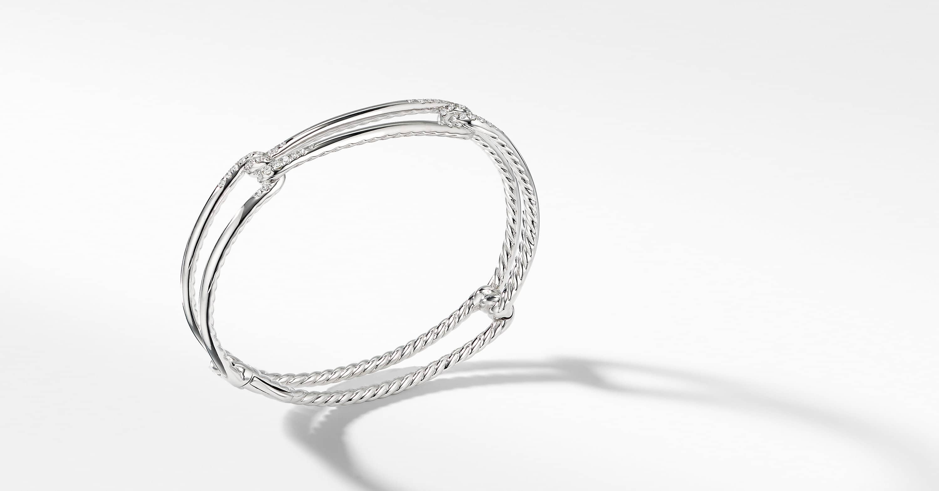 Continuance Bracelet with Diamonds in 18K White Gold