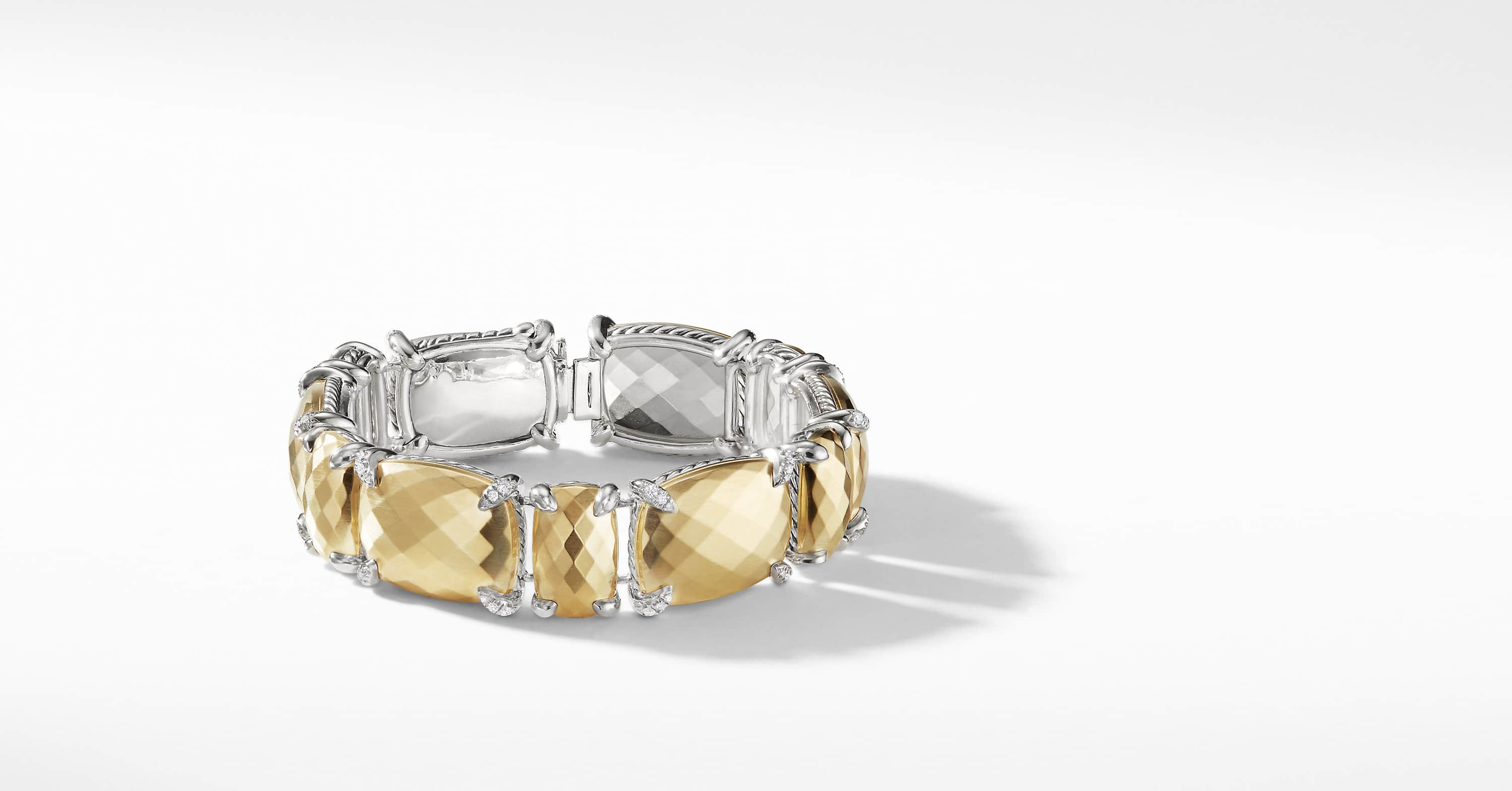 Chatelaine Linear Bracelet with Diamonds and 18K Gold