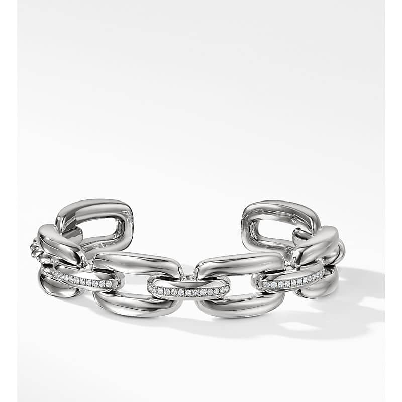 Wellesley Link Cuff with Diamonds, 14mm