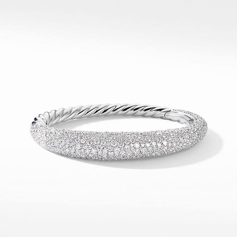 Pure Form® Full Pave Smooth Bracelet in 18K