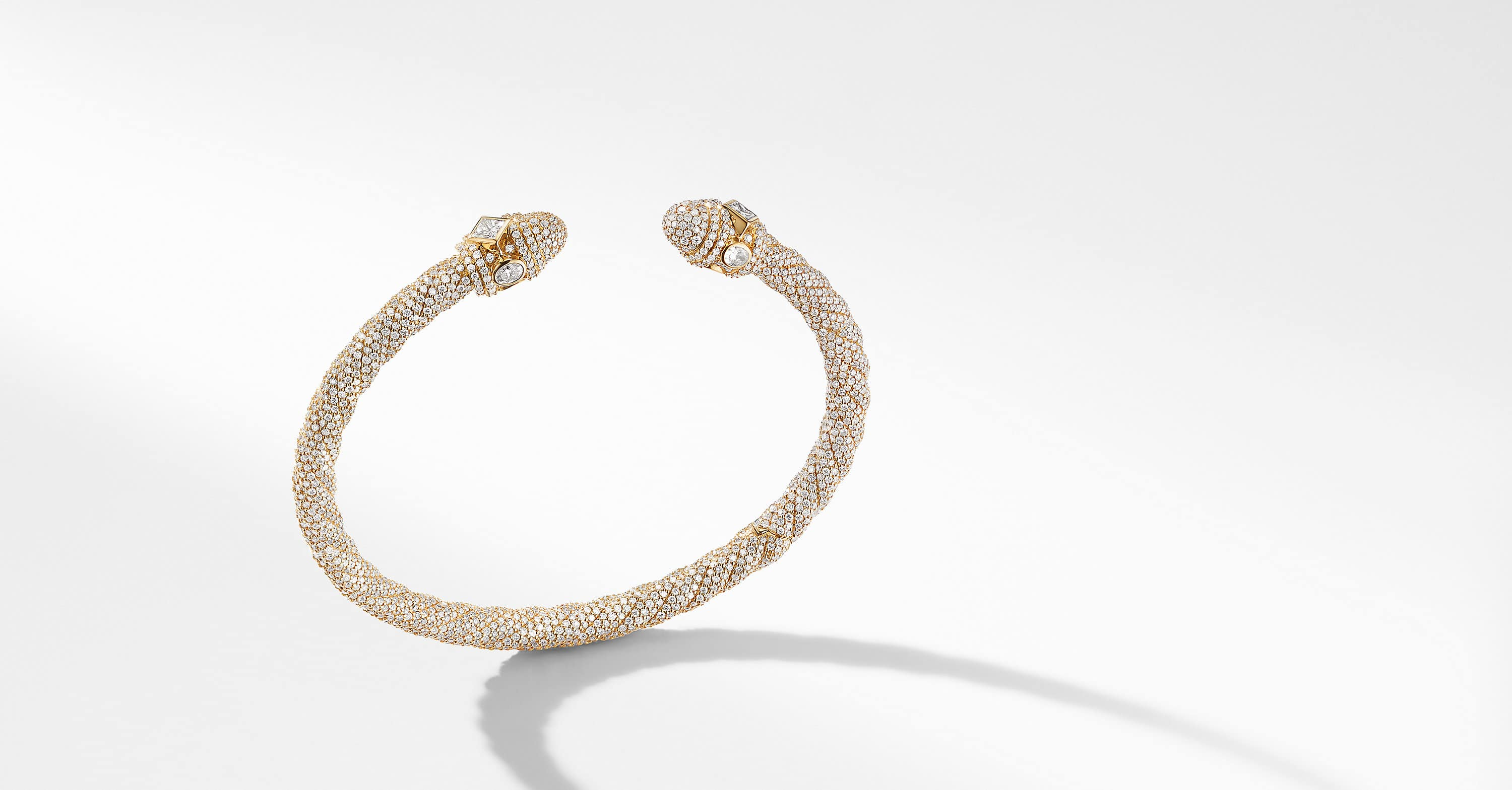 Renaissance Bracelet in 18K Gold with Diamonds, 5mm