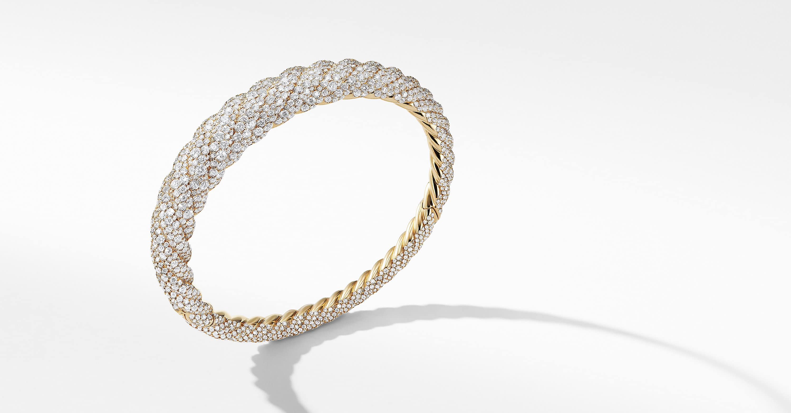 Pure Form Cable Diamond Bracelet in 18K Gold