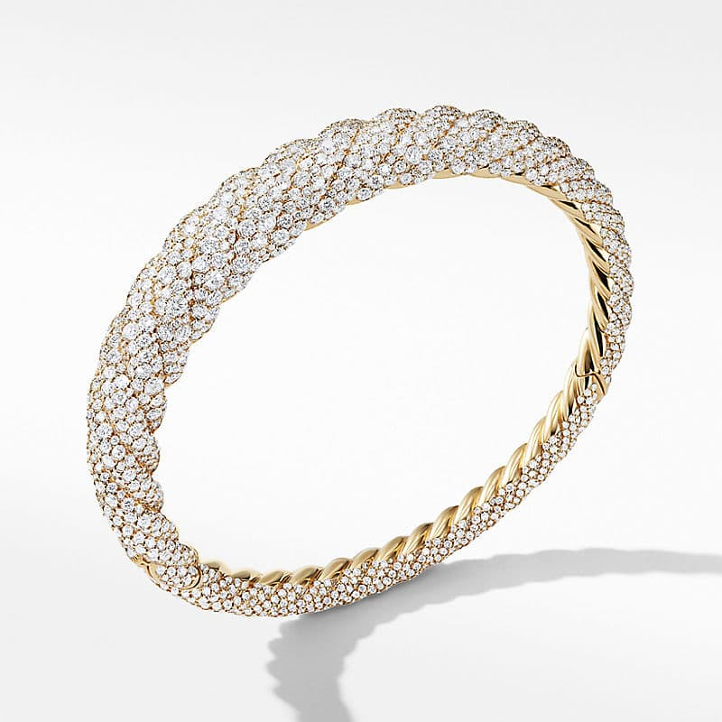 Pure Form® Cable Diamond Bracelet in 18K Gold,